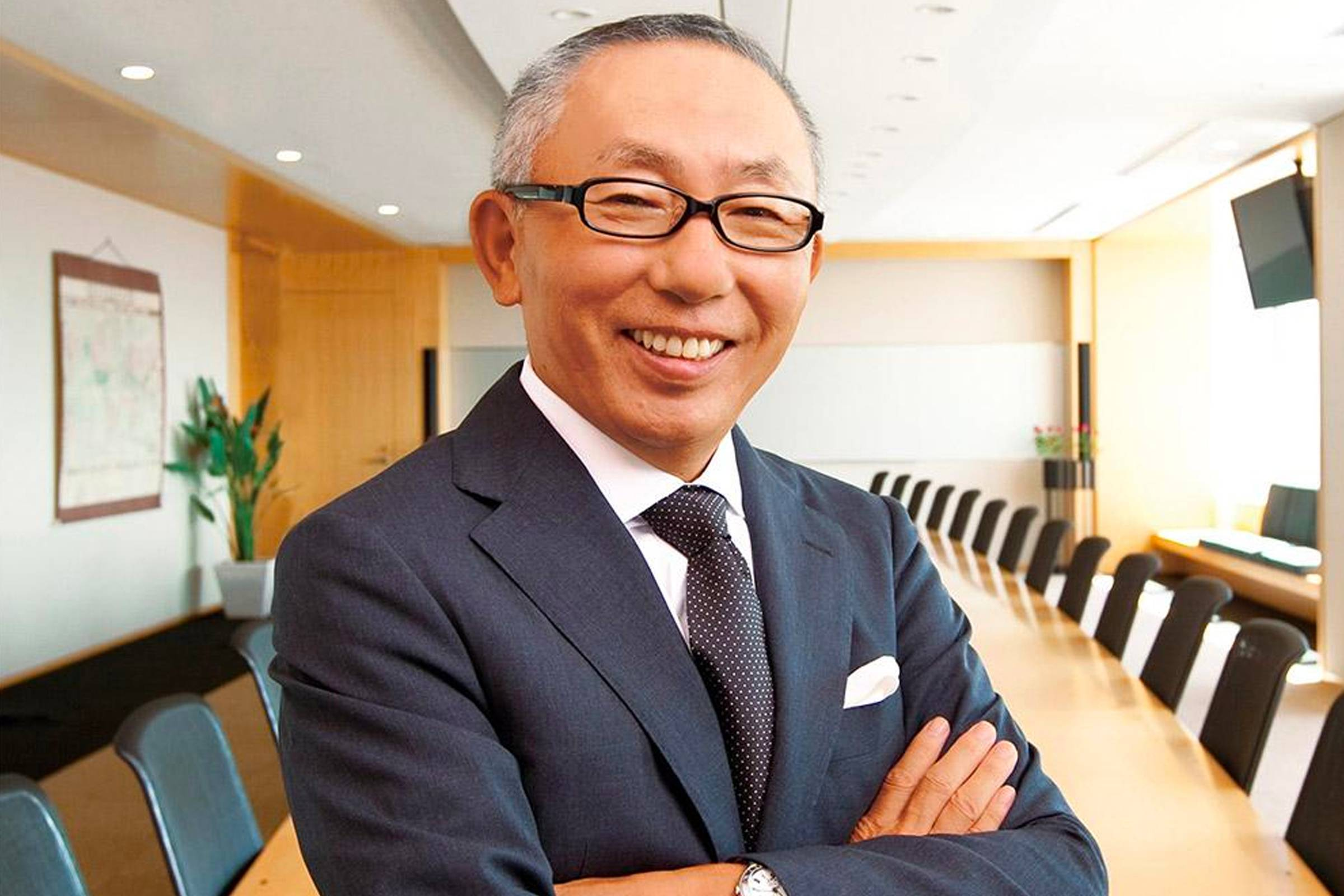 Tadashi Yanai, founder and president of Fast Retailing and Uniqlo