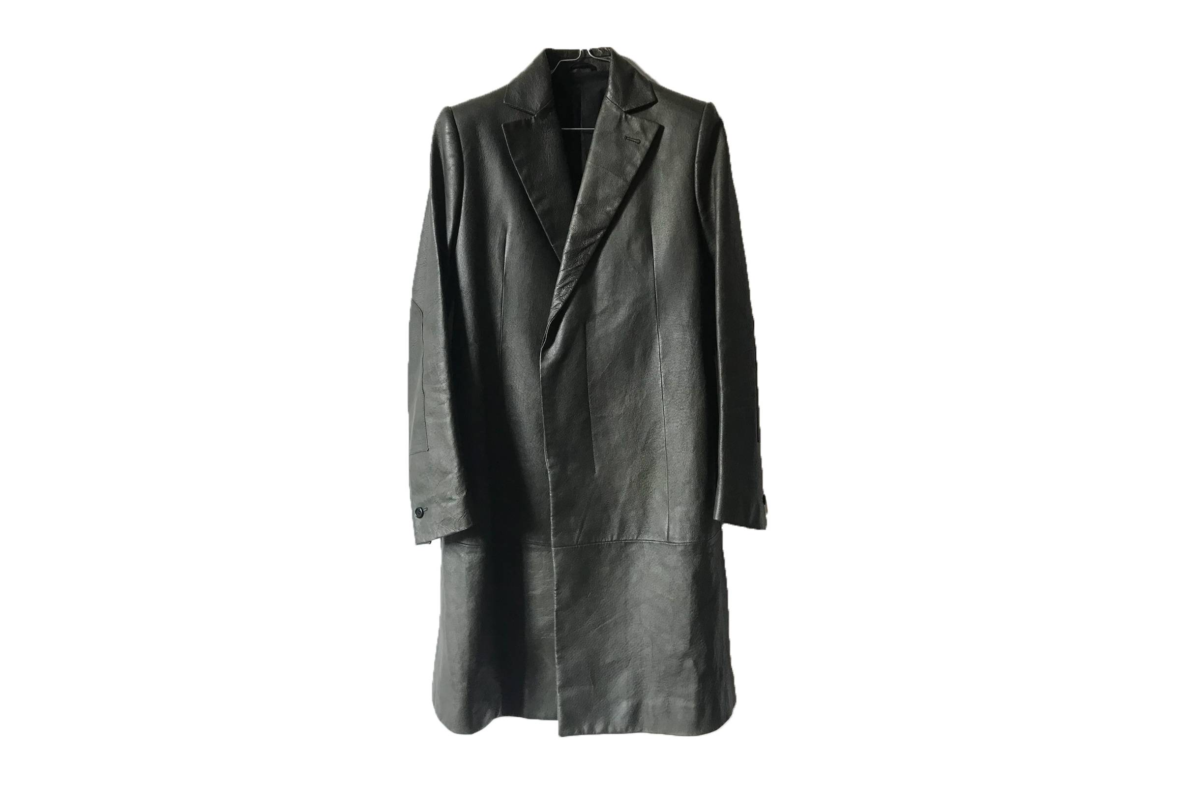 Carol Christian Poell Leather Trench Coat
