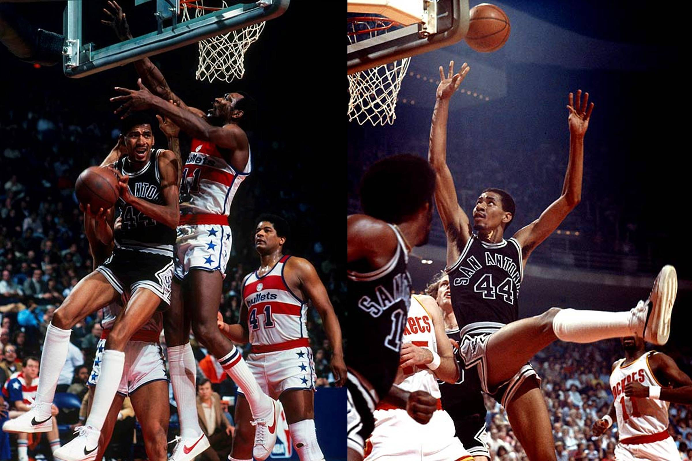 "George ""Iceman"" Gervin playing in the Nike Blazer"
