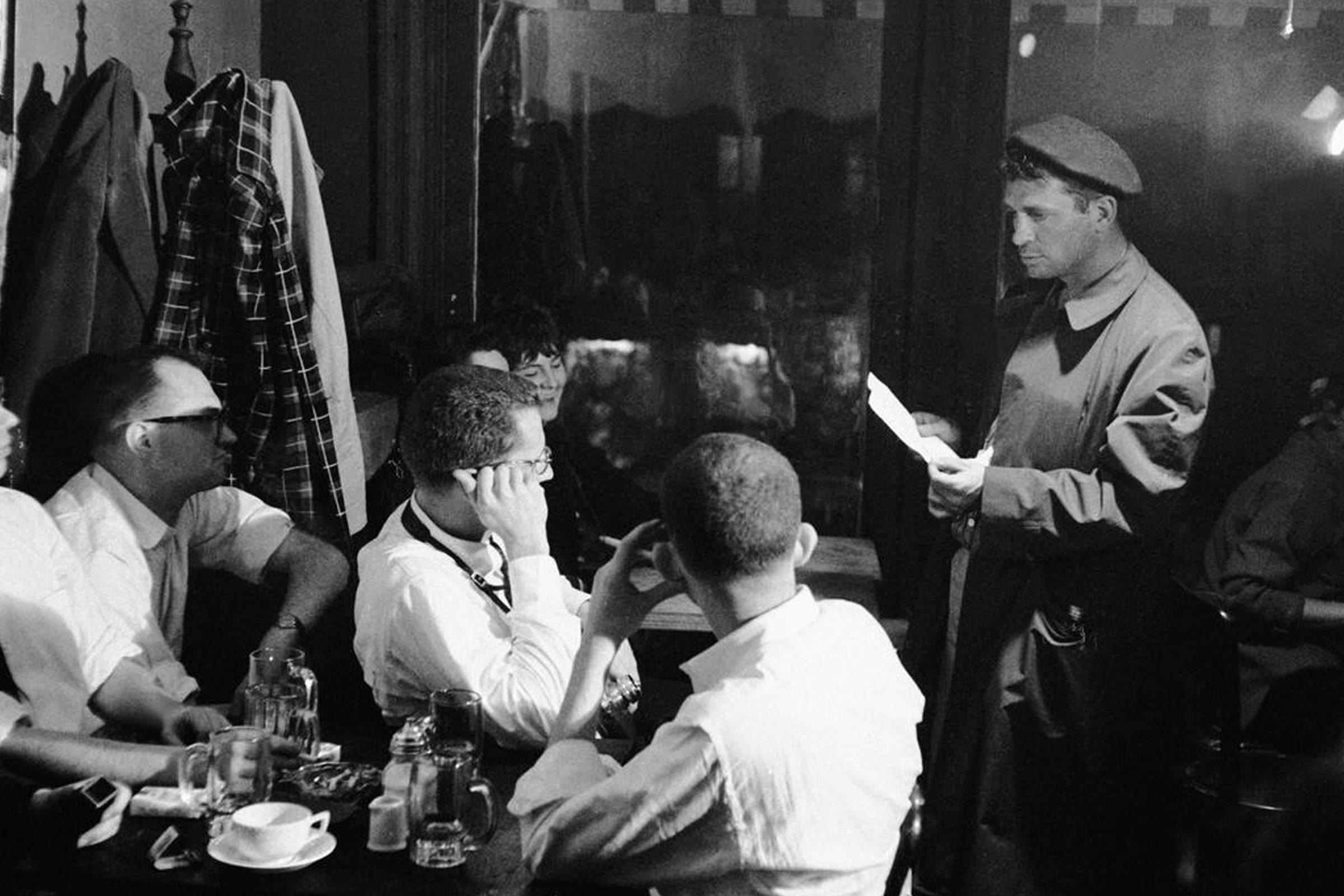 Jack Kerouac reading at the Seven Arts Cafe in New York in 1959