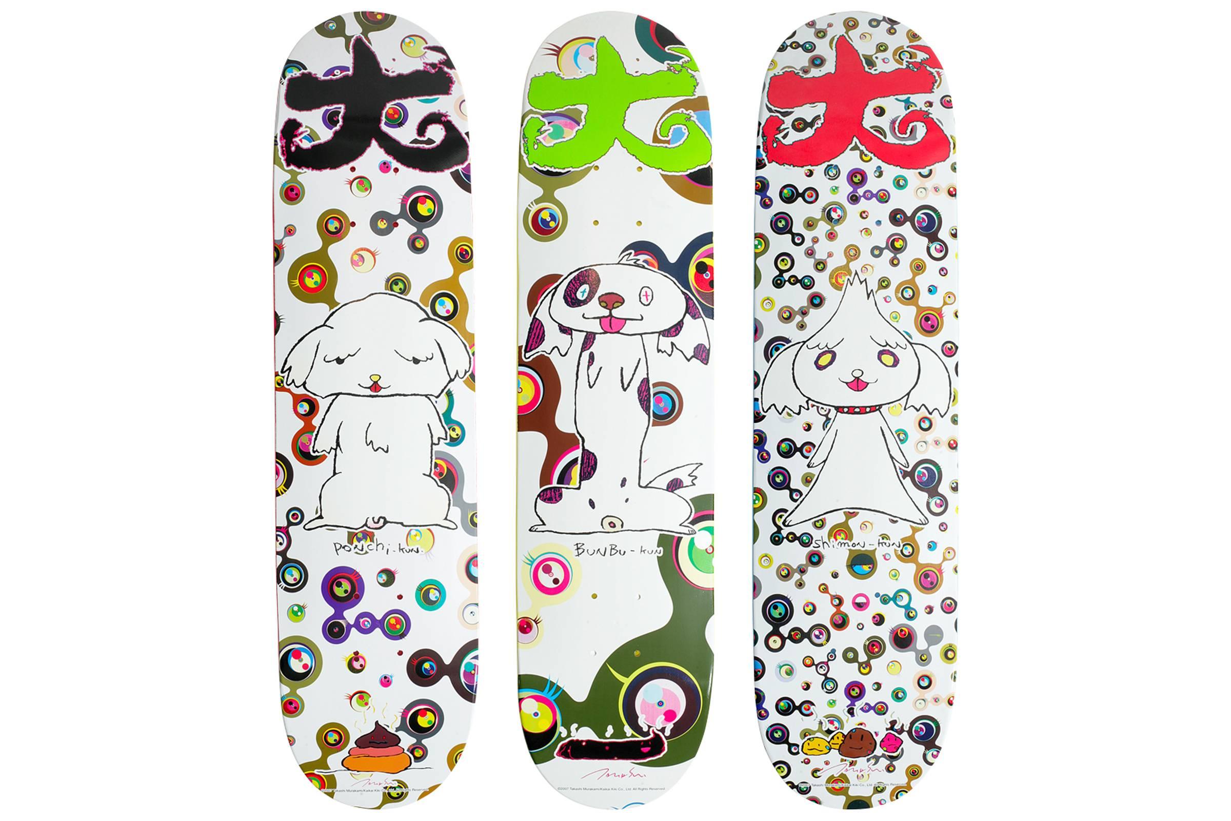 Supreme x Takashi Murakami skate decks (2007)