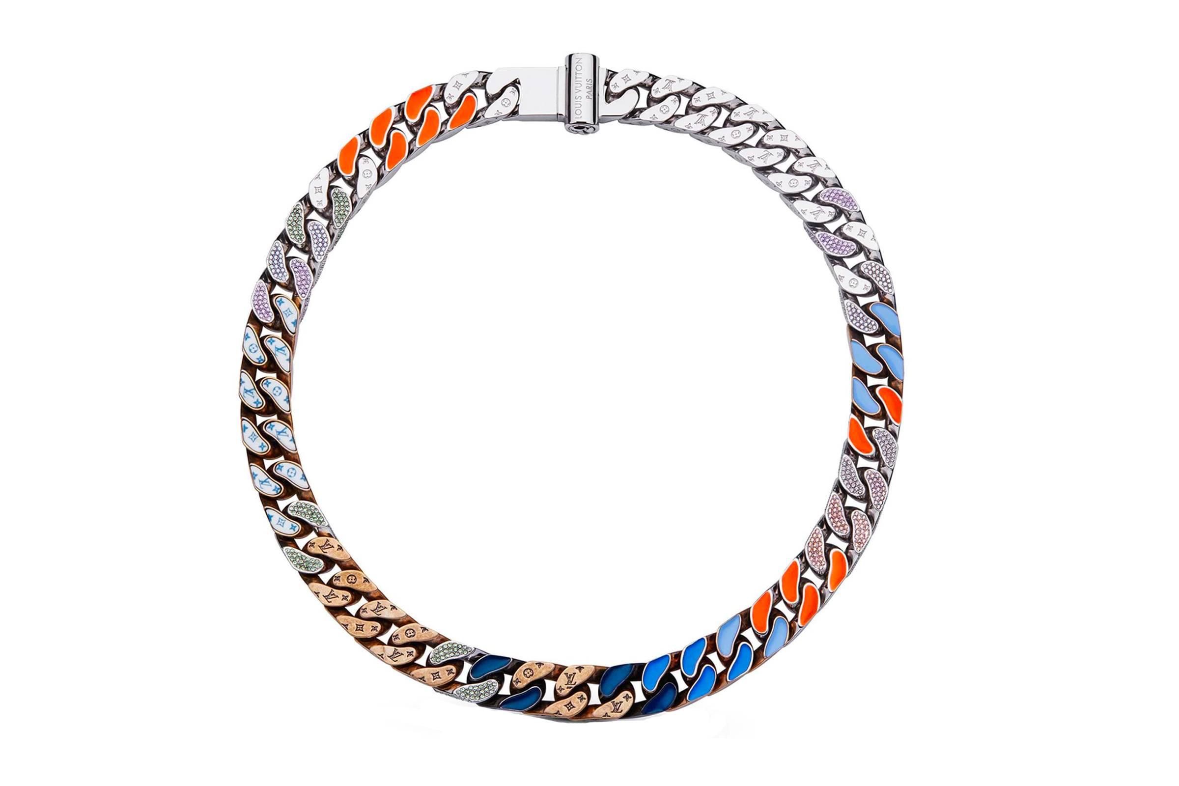 Louis Vuitton Chains Links Patches Necklace