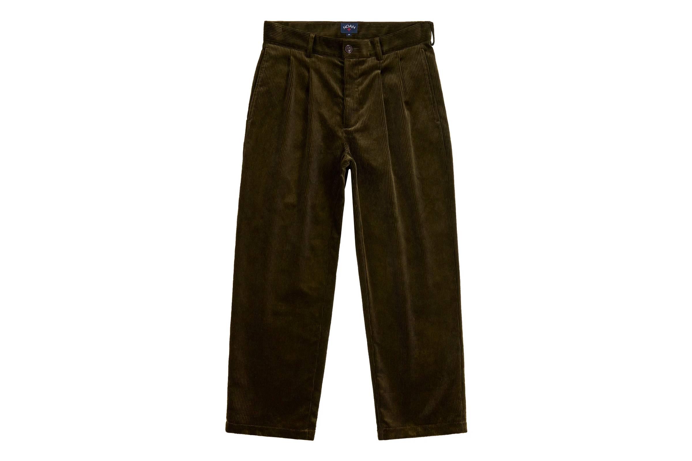 Noah Double-Pleat Corduroy Trouser