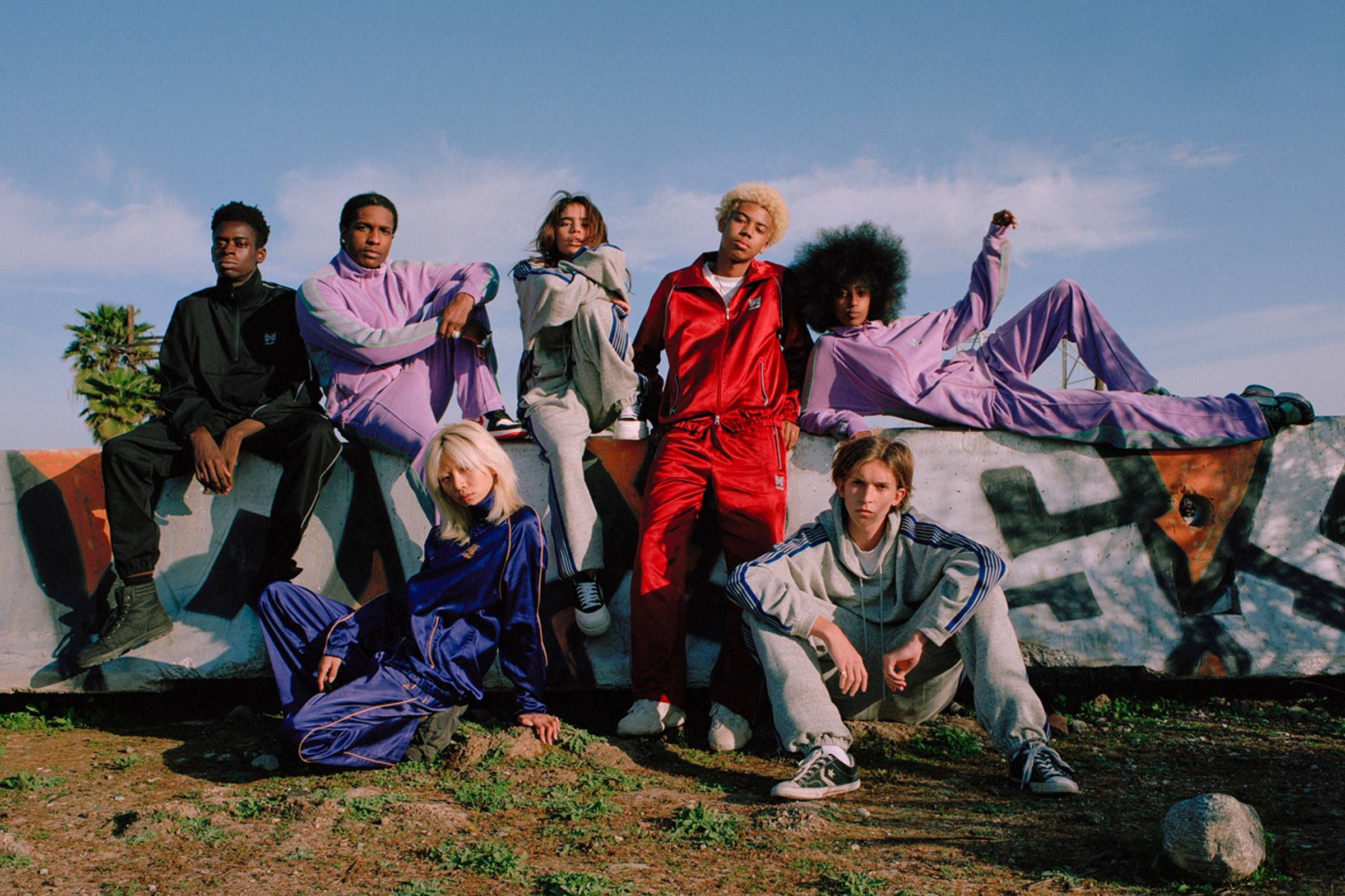 A promotional photo from the Spring/Summer 2019 AWGE x Needles collaboration