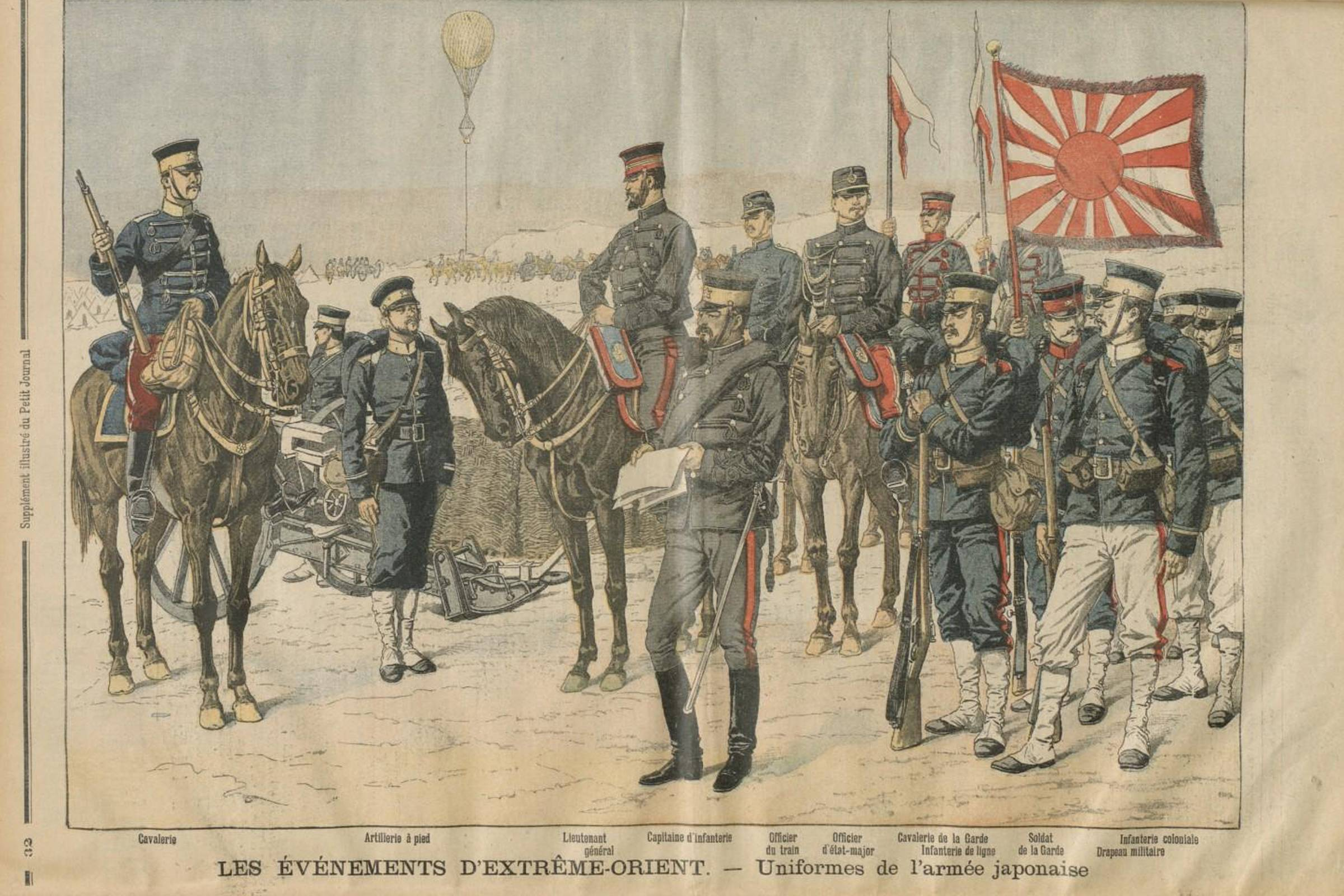 Uniforms of the Japanese Army in Manchuria in 1904, just before the start of the Russo-Japanese War