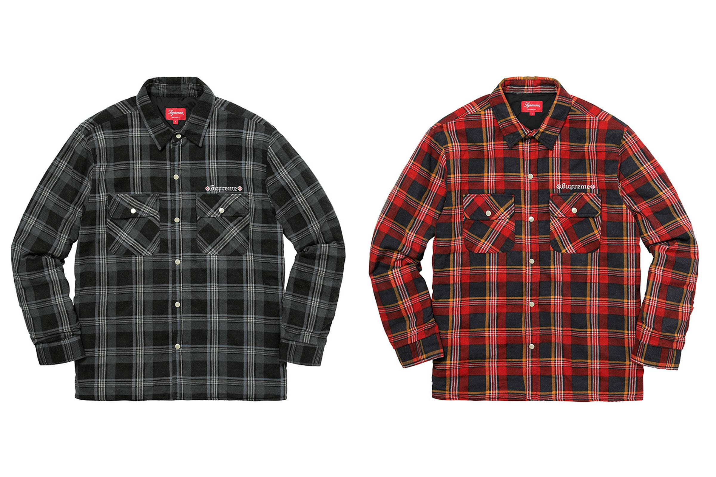 "Supreme x Independent  ""Fuck The Rest"" Quilted Flannel"