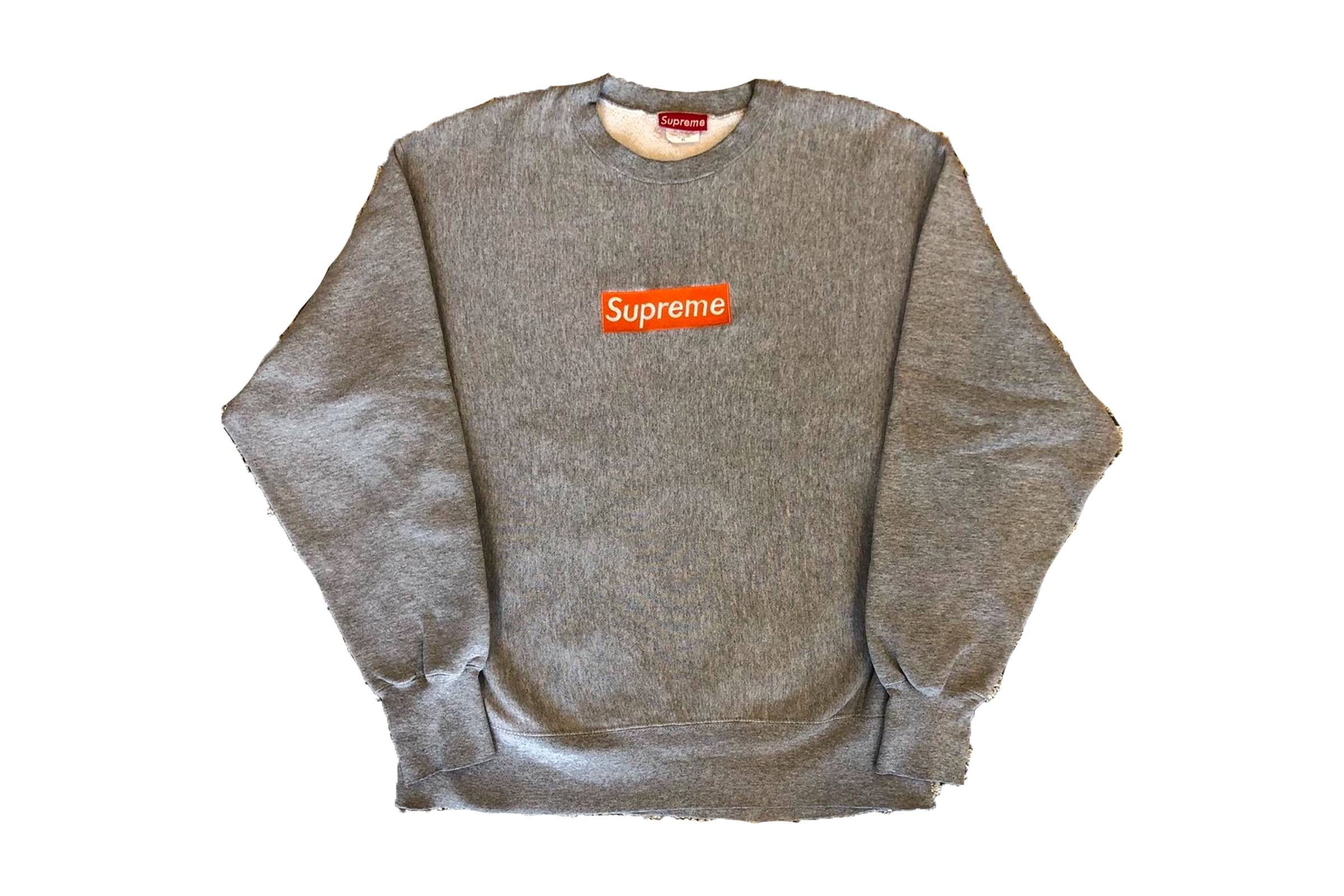 "Supreme ""Safety Orange"" Box Logo Crewneck"