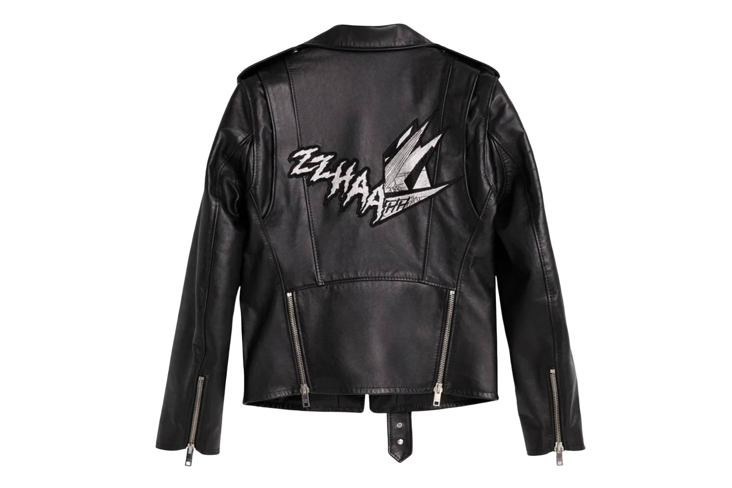 Celine Spring/Summer 2019 'Zzhaa Zow' Patch Biker Jacket