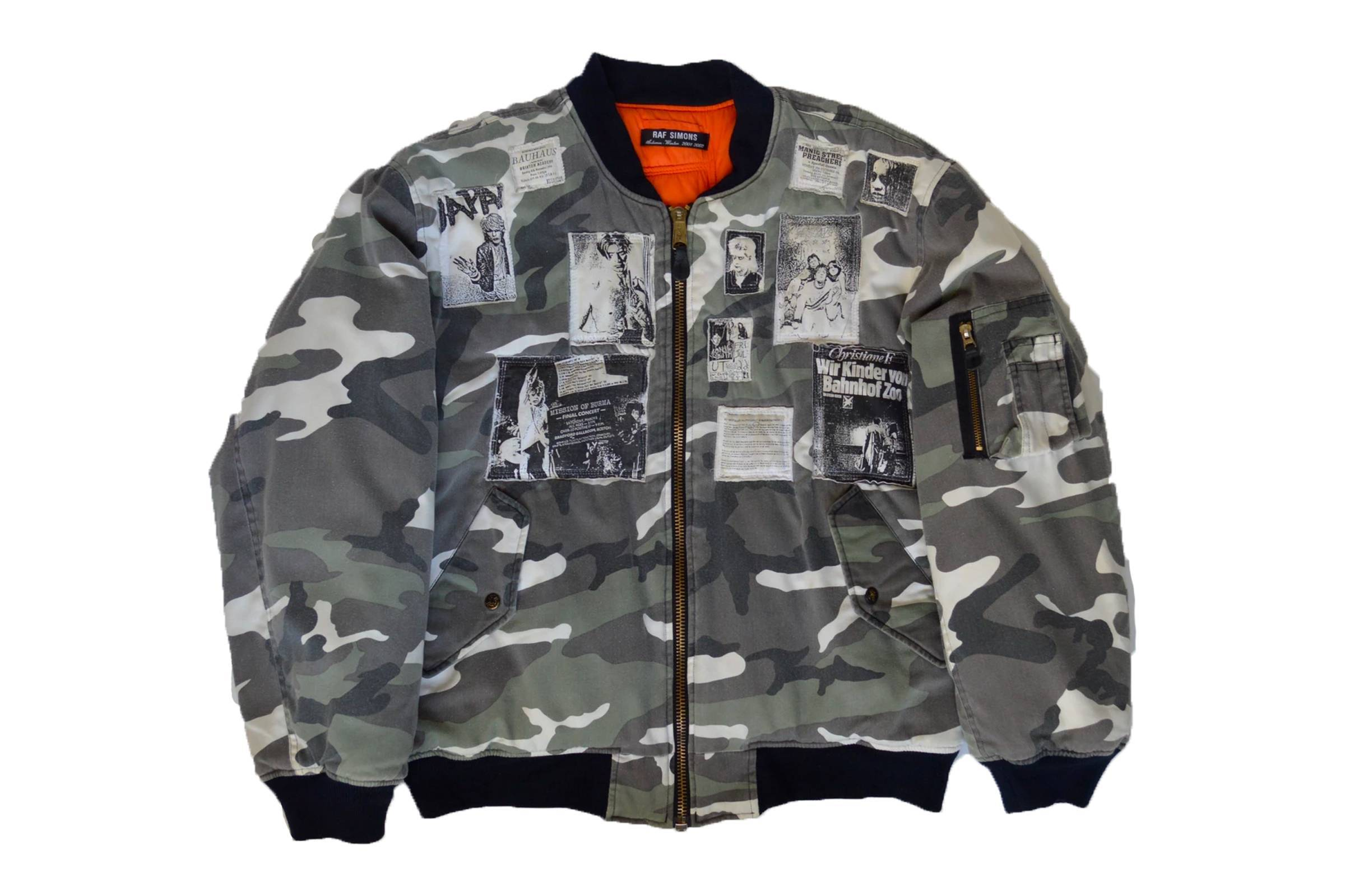 "Raf Simons Fall/Winter 2001 ""Riot, Riot, Riot"" Camo Patch Bomber"