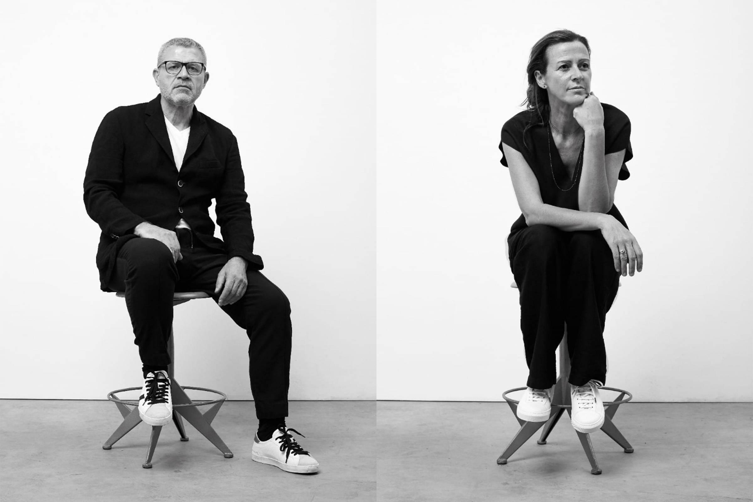 Creative Director Massimo Pigozzo (left) and Women's Designer Francesca Zara (right)