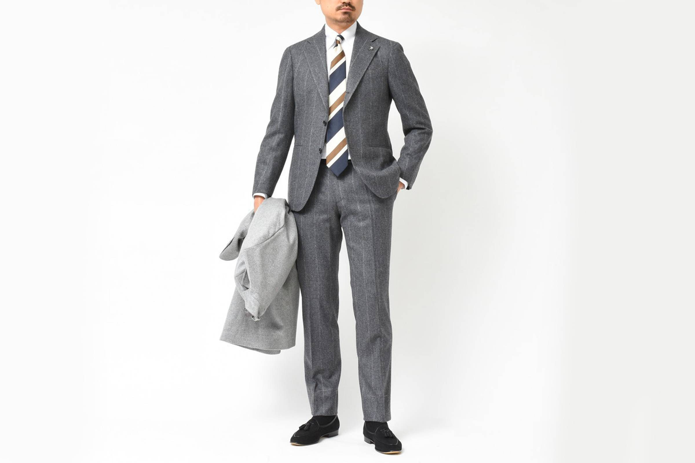 Types of Suits: Stripe Suit - Wool Flannel