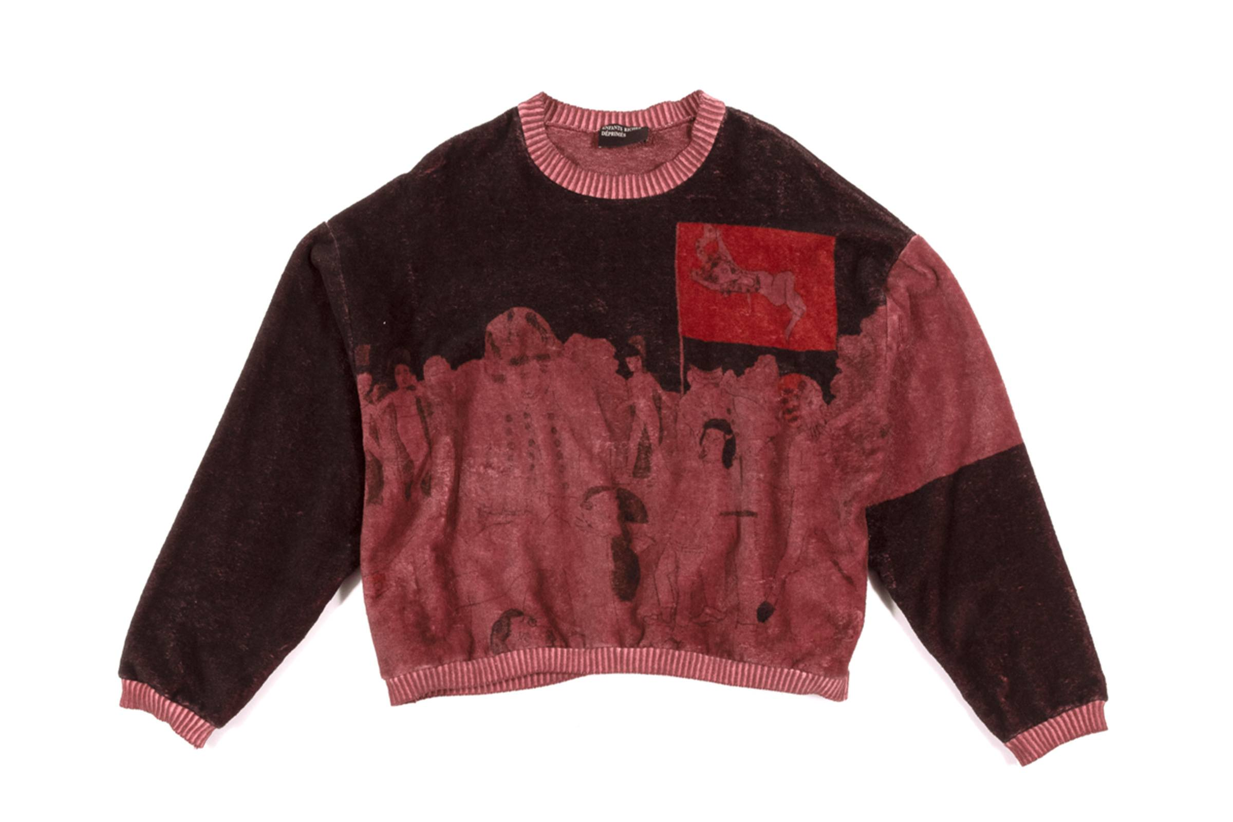 """Enfants Riches Déprimés Spring/Summer 2020 """"Darger"""" Velour Sweater"""
