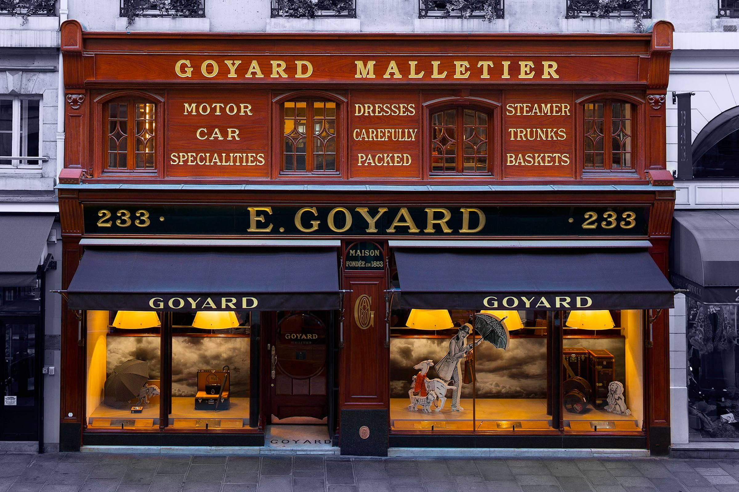 Goyard's flagship at 233 Rue Saint-Honoré