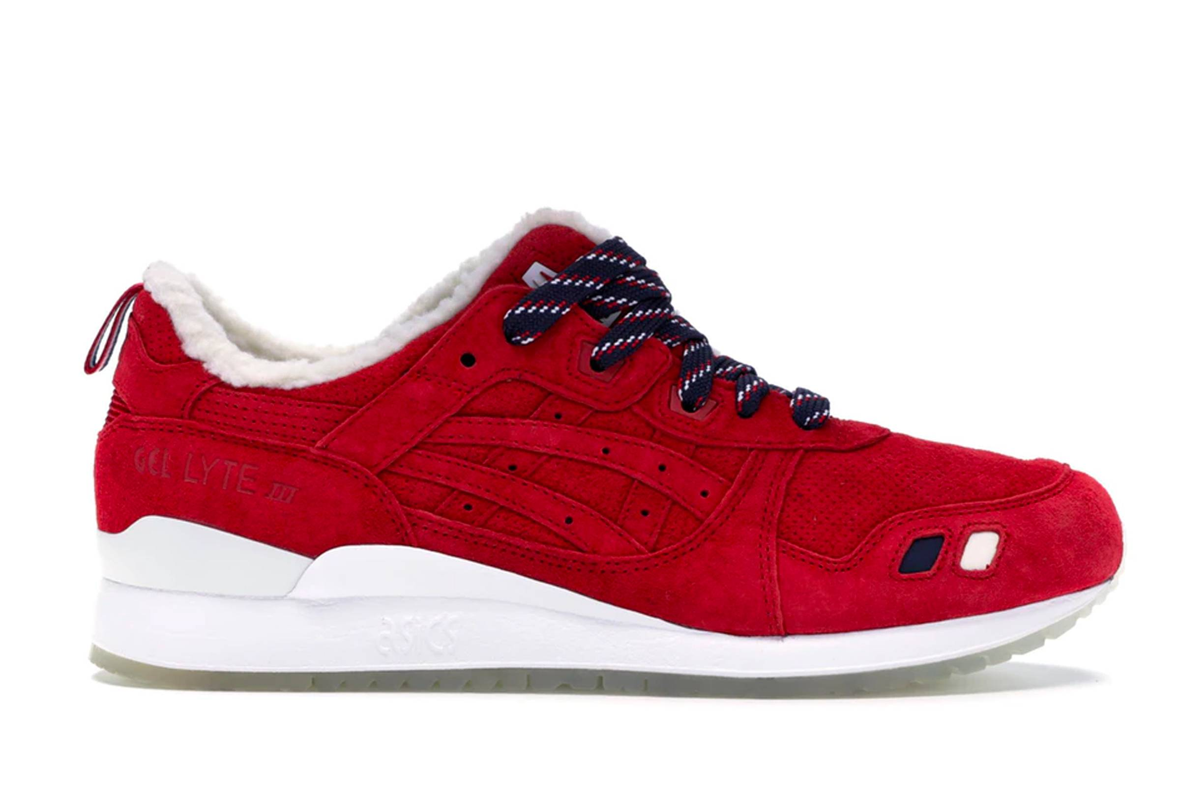 """Moncler x Kith x Asics Gel Lyte III """"Red"""""""