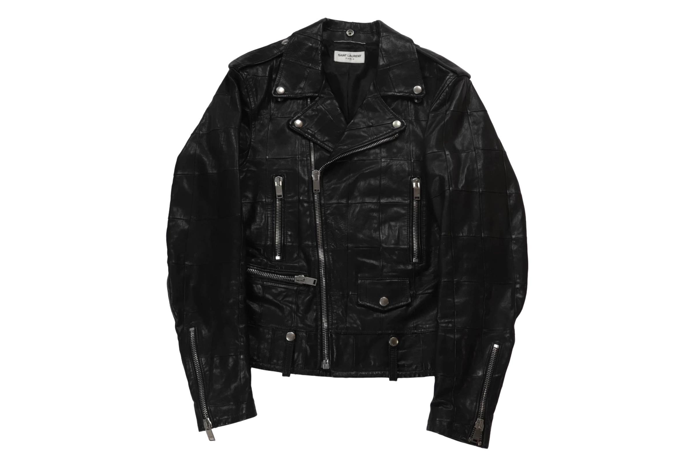 Saint Laurent Patchwork Leather Jacket