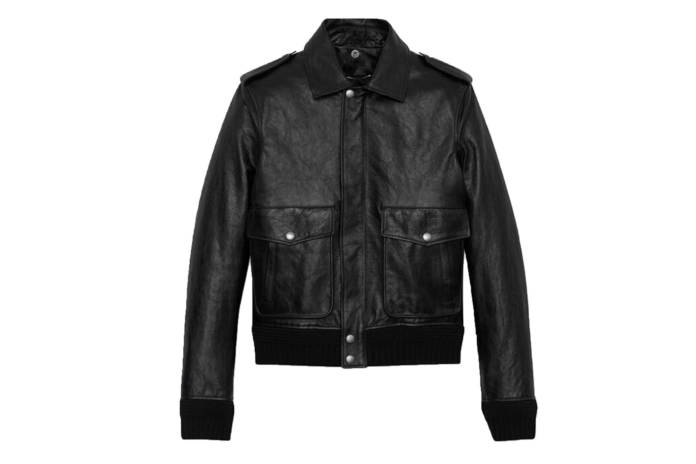 Saint Laurent Paris Leather Flight Jacket