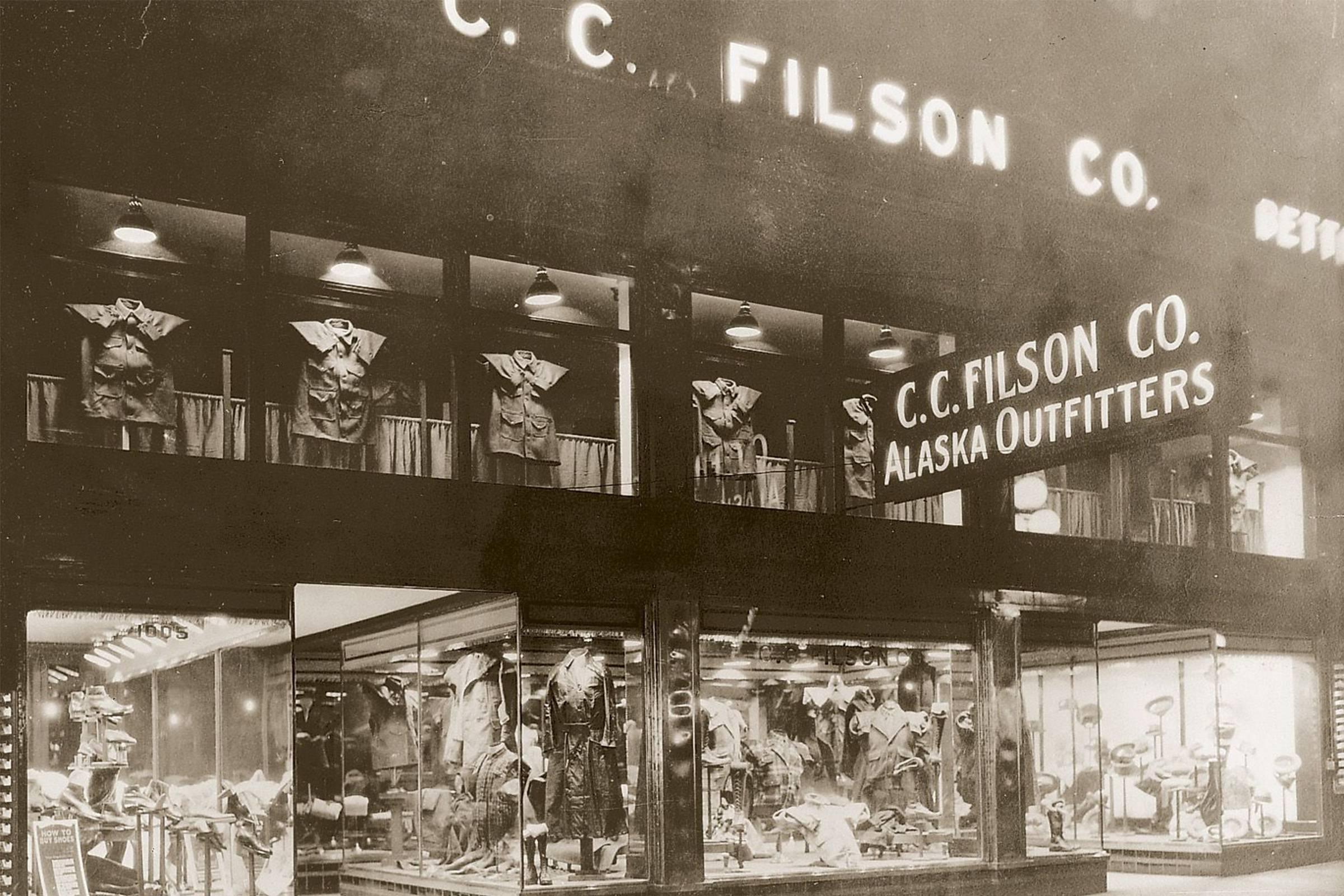 The original Filson store in Seattle (c. 1910)
