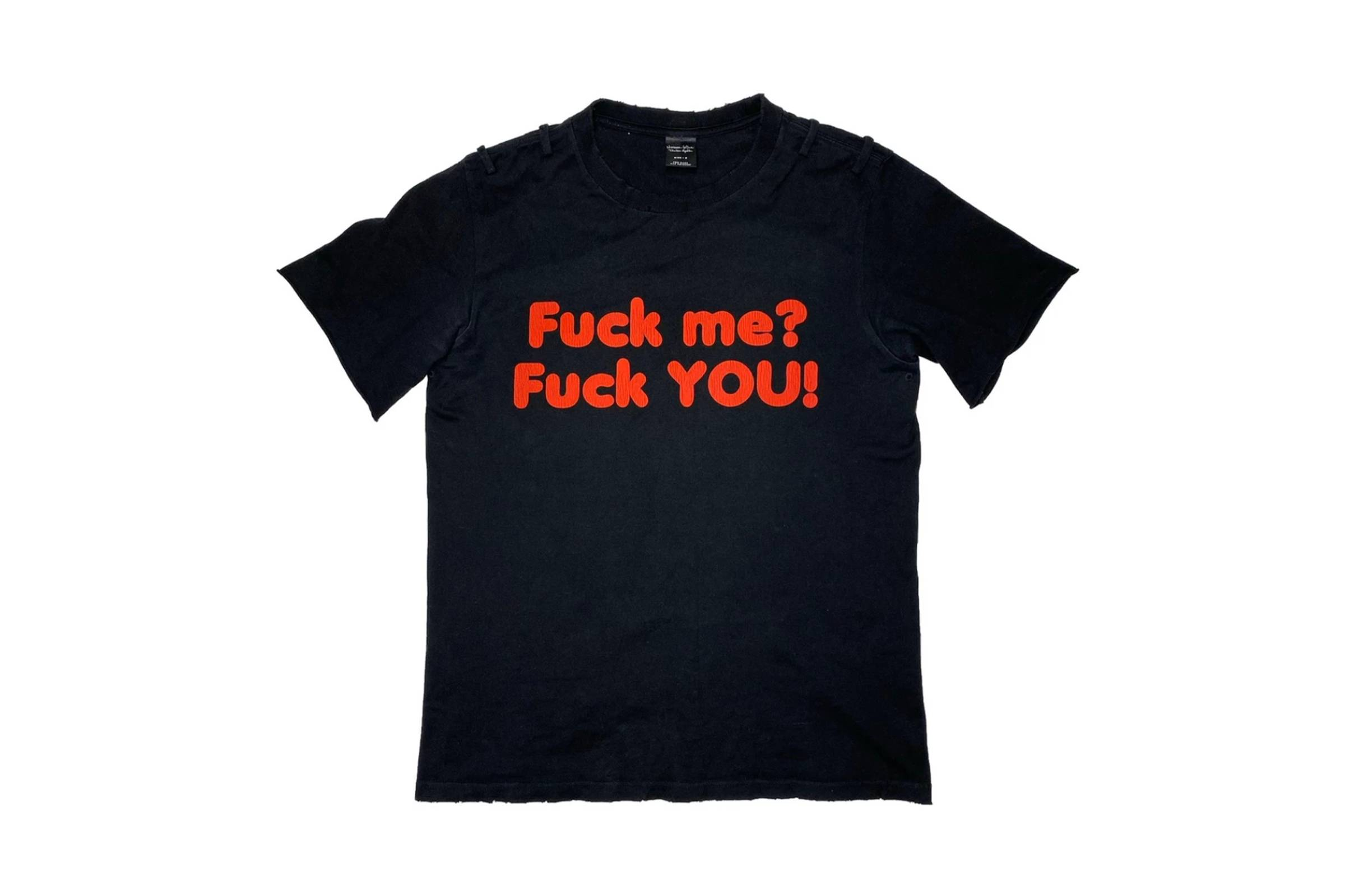 "Number (N)ine Spring/Summer 2006 ""Fuck Me? Fuck You!"" T-Shirt"