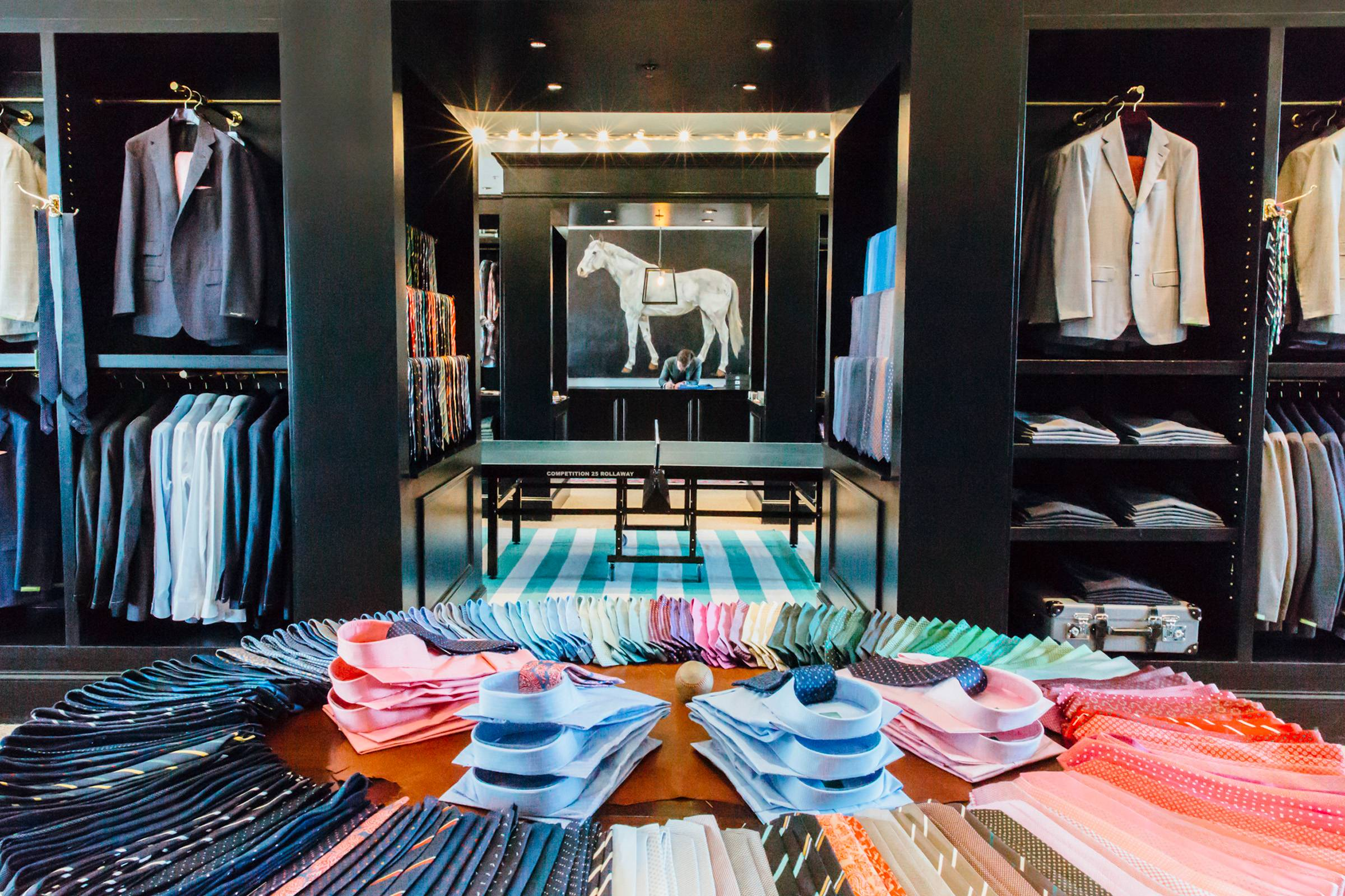 Inside one of Sid Mashburn's retail stores