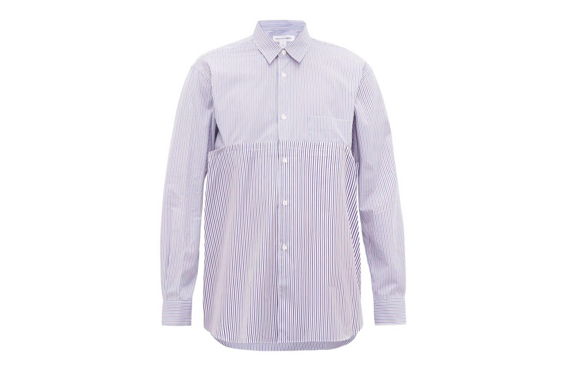 Comme des Garçons SHIRT Mismatched Striped Shirt