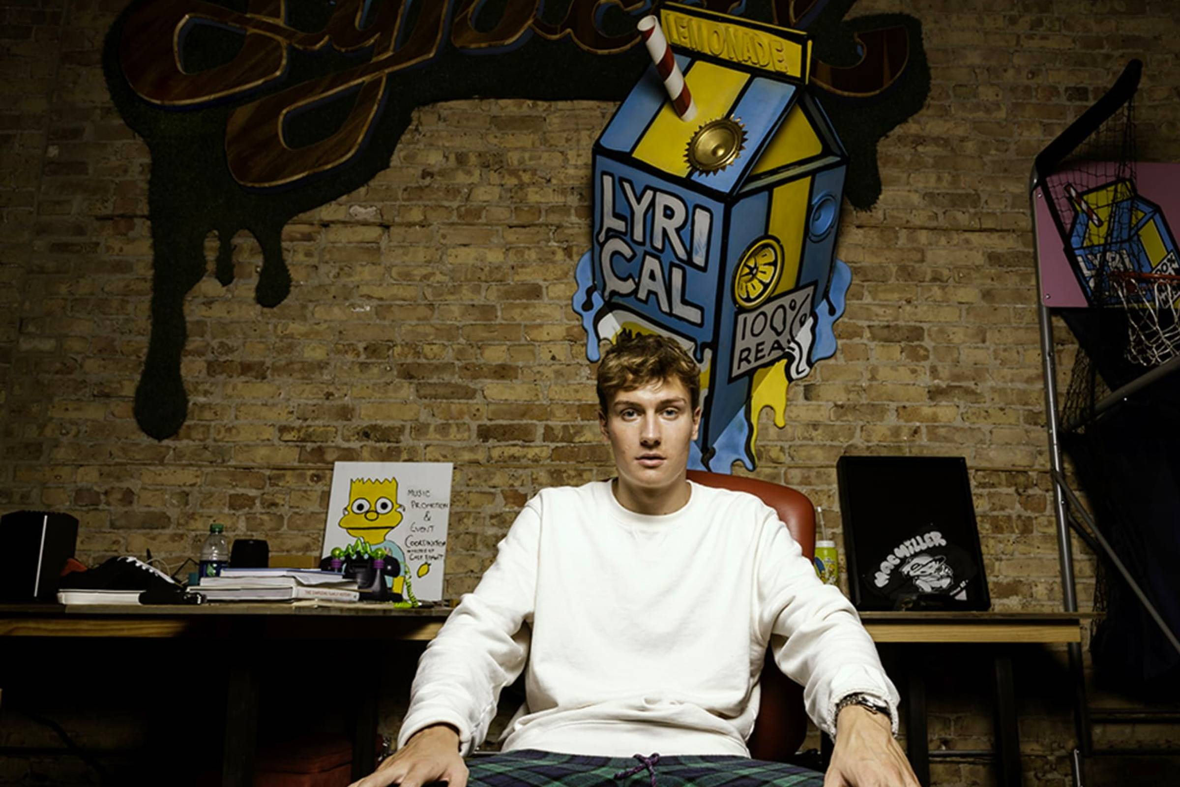 Cole Bennet in the Lyrical Lemonade office in Chicago