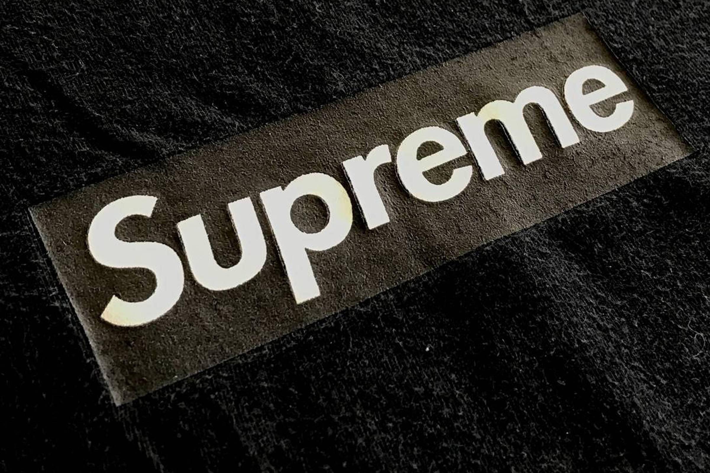Supreme x Neighborhood Black Box Logo, from the wardrobe of Nick Rubin