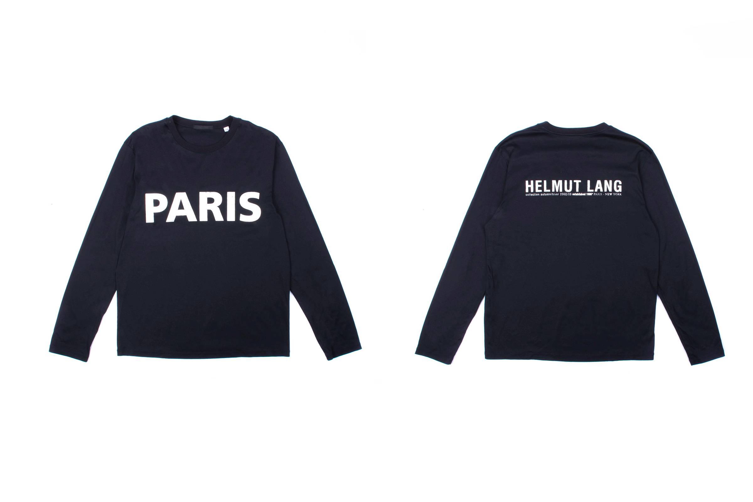 """Helmut Lang """"Paris"""" Longsleeve T-Shirt"""