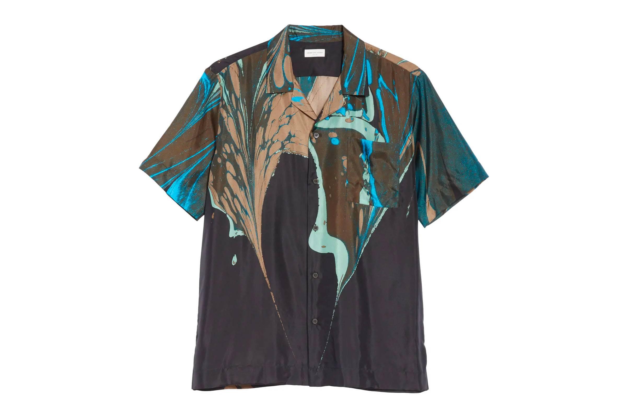 Dries Van Noten Patterned Silk Shirt