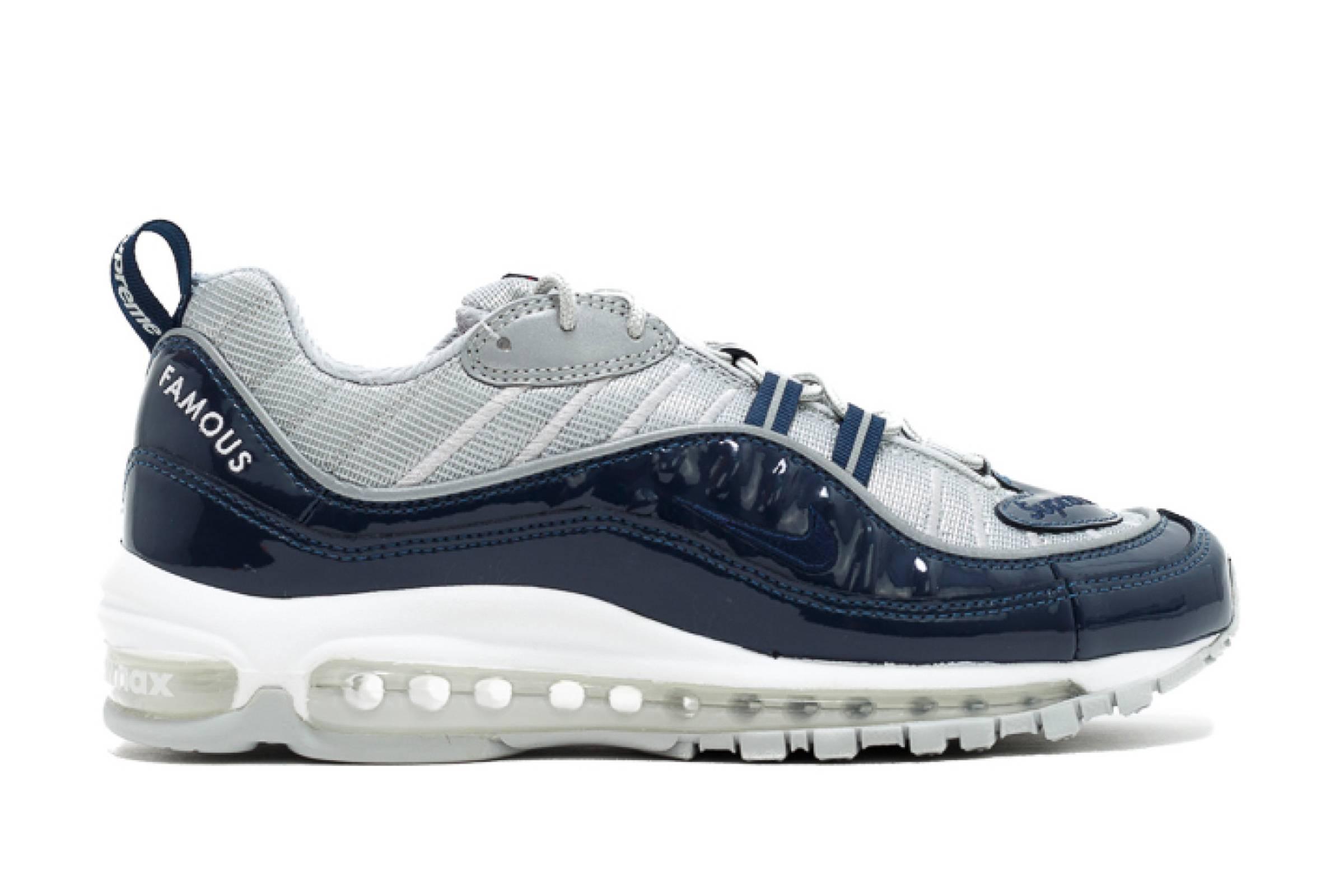 "Supreme x Nike Air Max 98 ""Navy"""