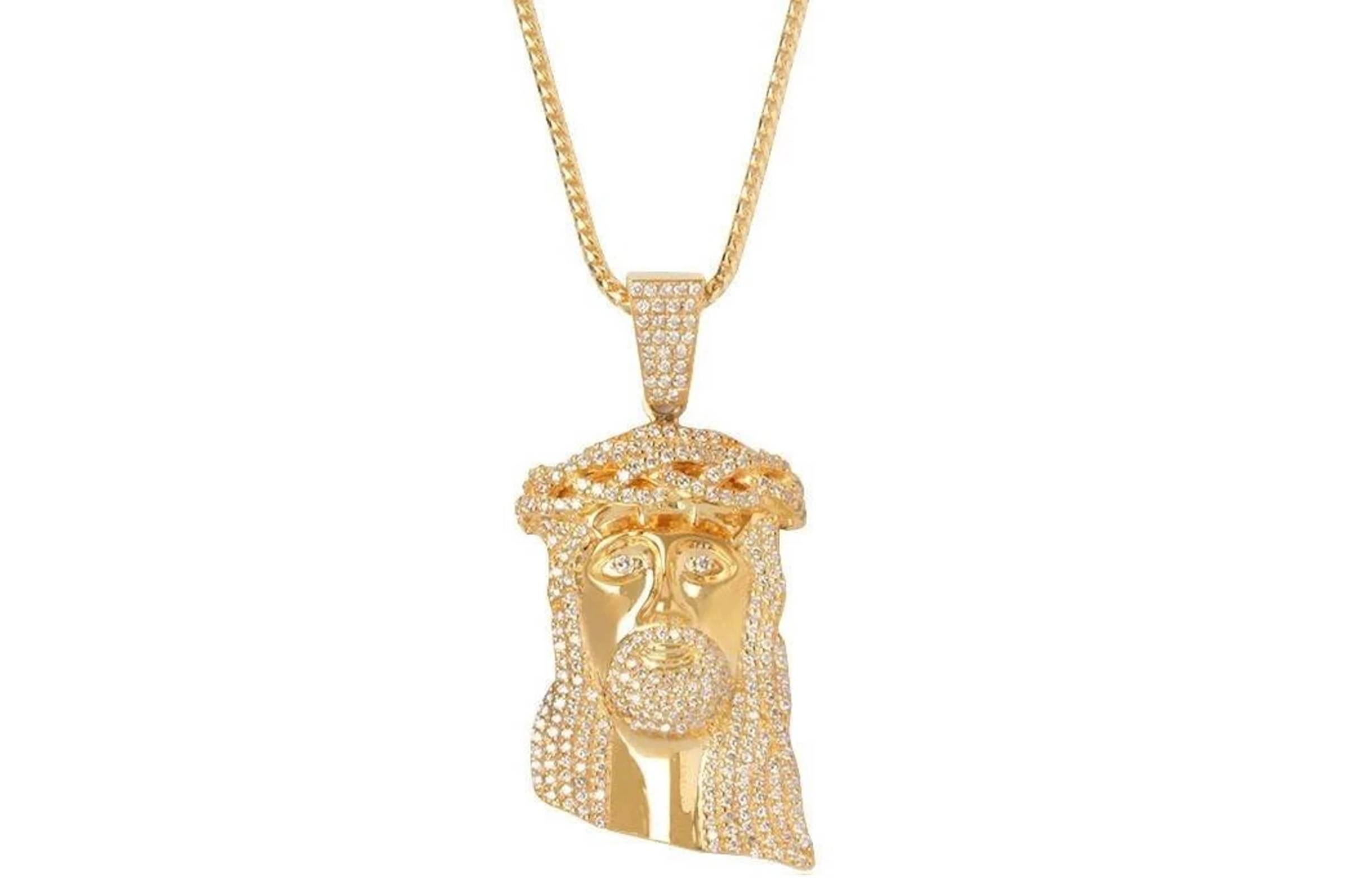 If & Co. Fully Iced Jesus Piece