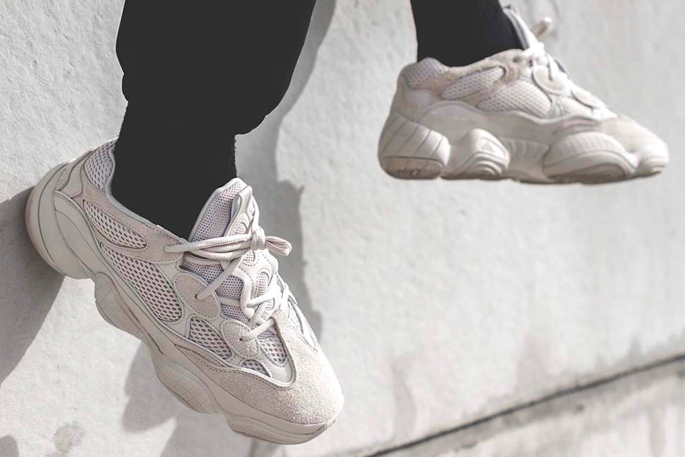 promo code a7e2c b3c0b The Yeezy Desert Rat 500 Blush Drops This Weekend | Grailed