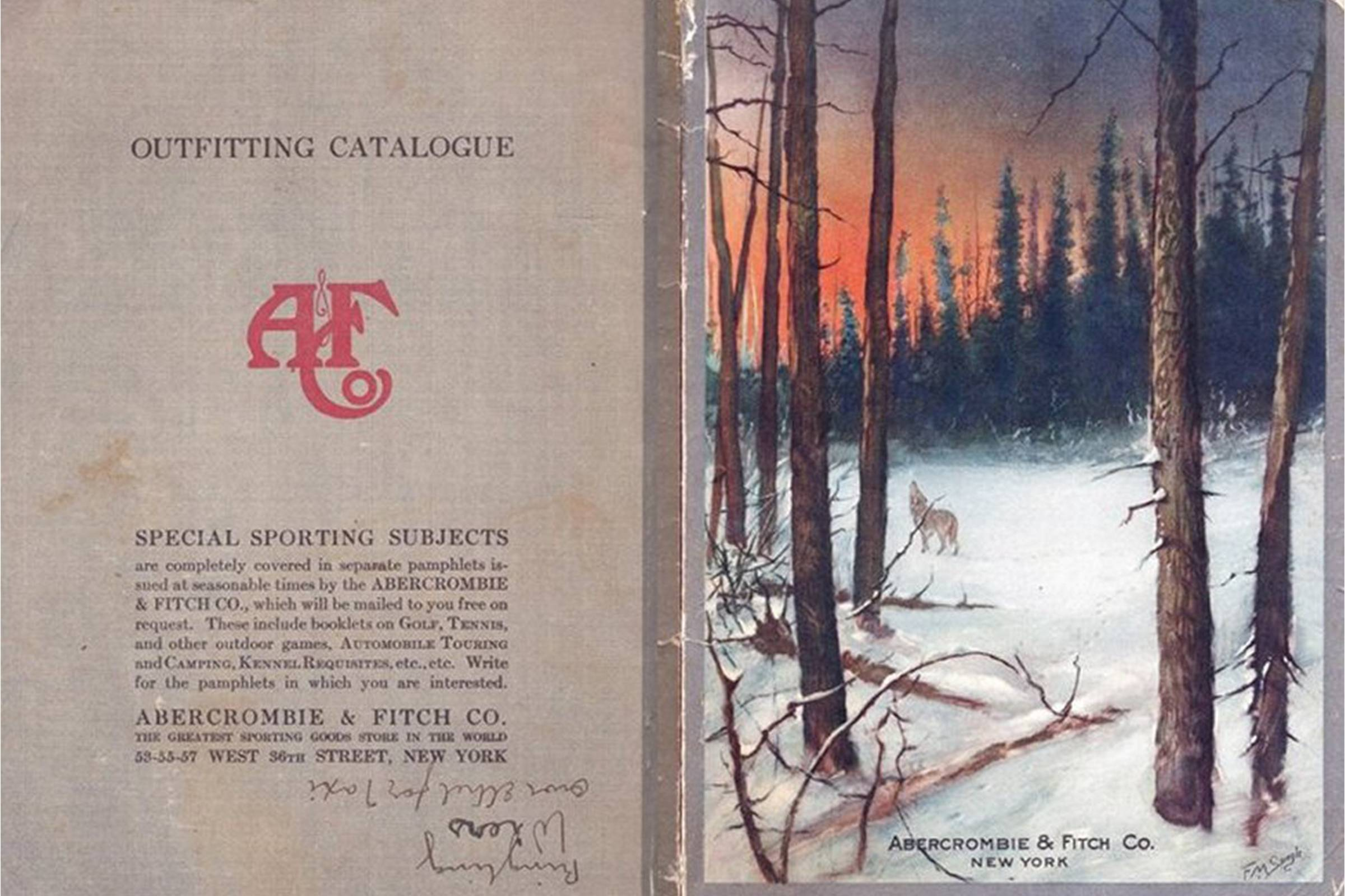 An Abercrombe & Fitch catalog from 1915