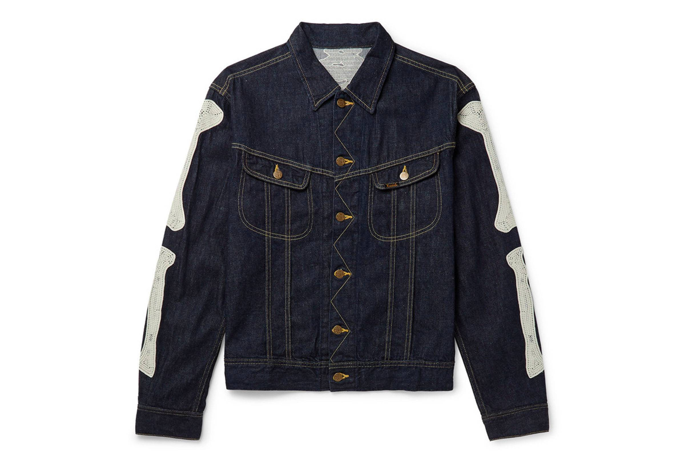"Kapital ""Bones"" Appliqued Denim Jacket"