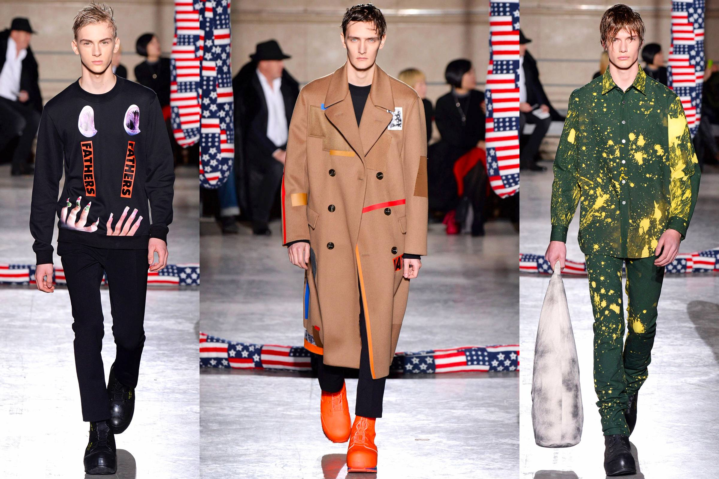 Looks from Raf Simons' Fall/Winter 2014 collection in collaboration with Sterling Ruby
