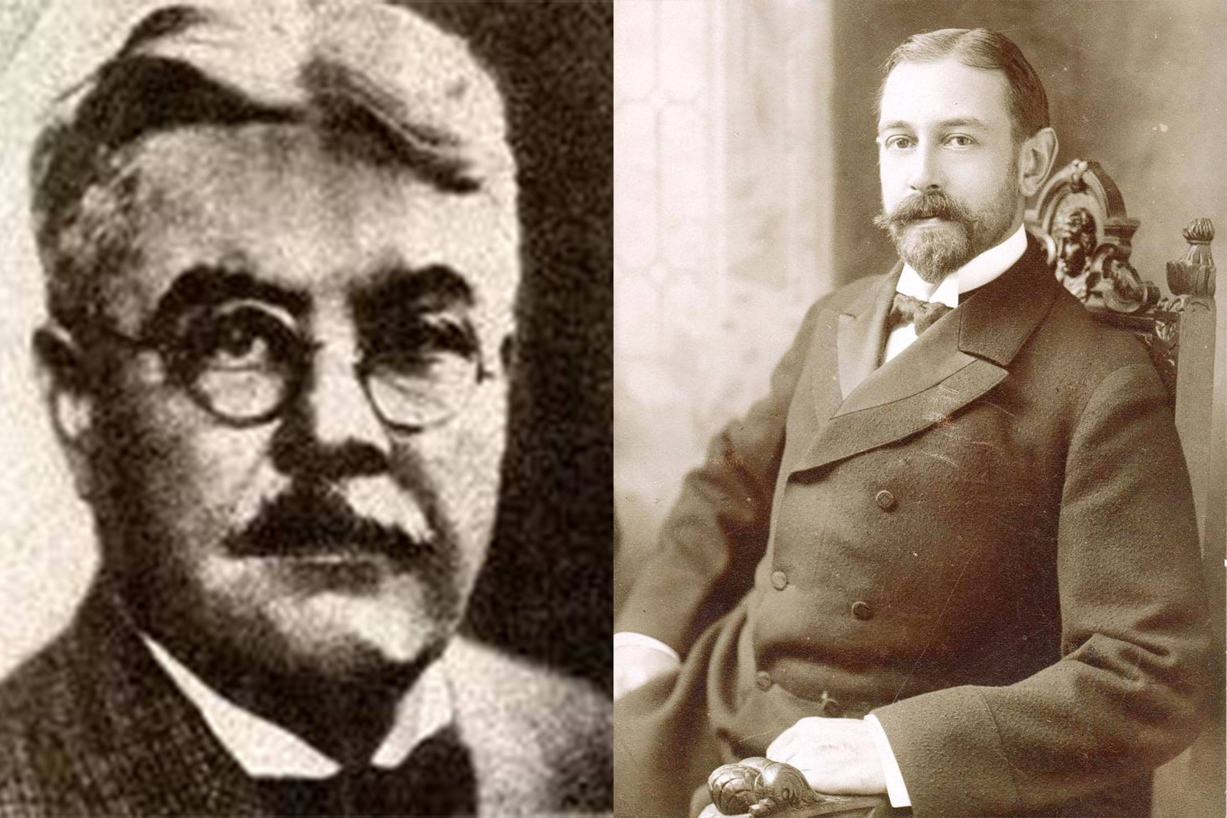 Founders David T. Abercrombie (left) and Ezra Fitch (right)