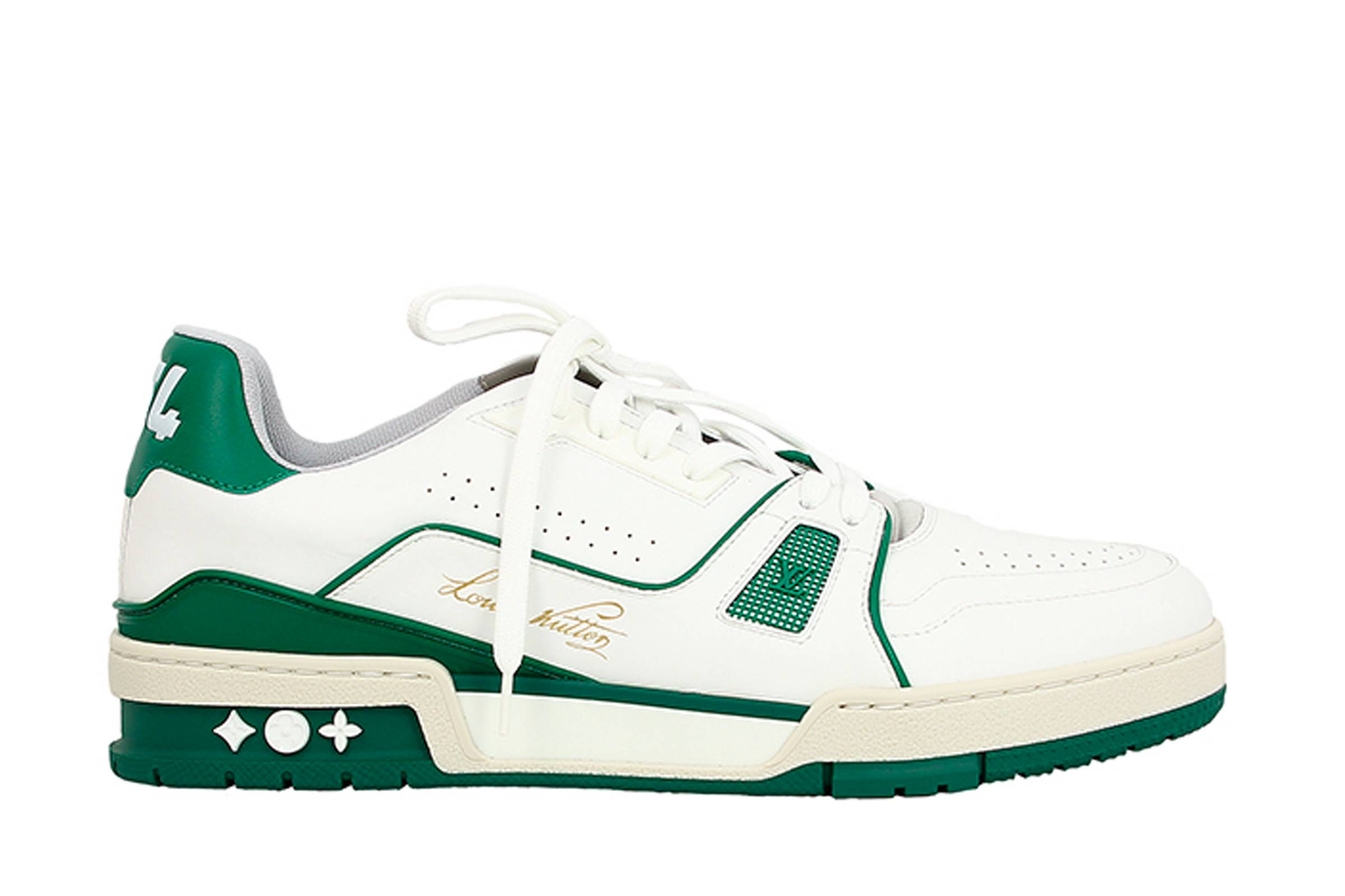 "Louis Vuitton LV 408 Trainer Low ""White/Green"""