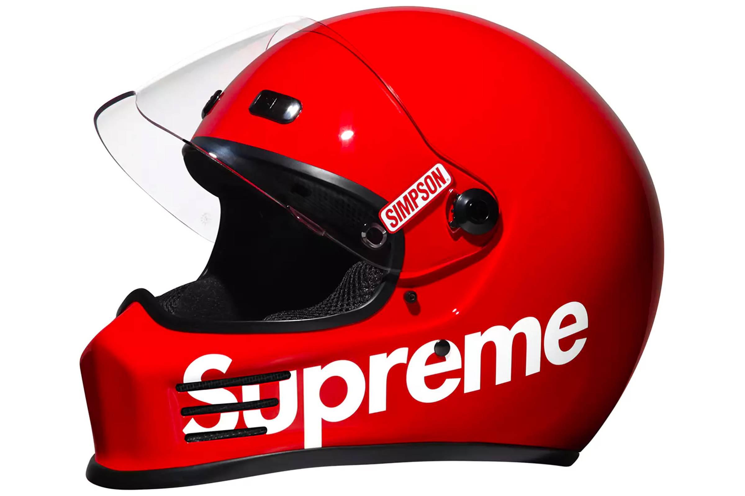 Supreme x Simpson Street Bandit Motorcycle Helmet (Fall/Winter 2016)