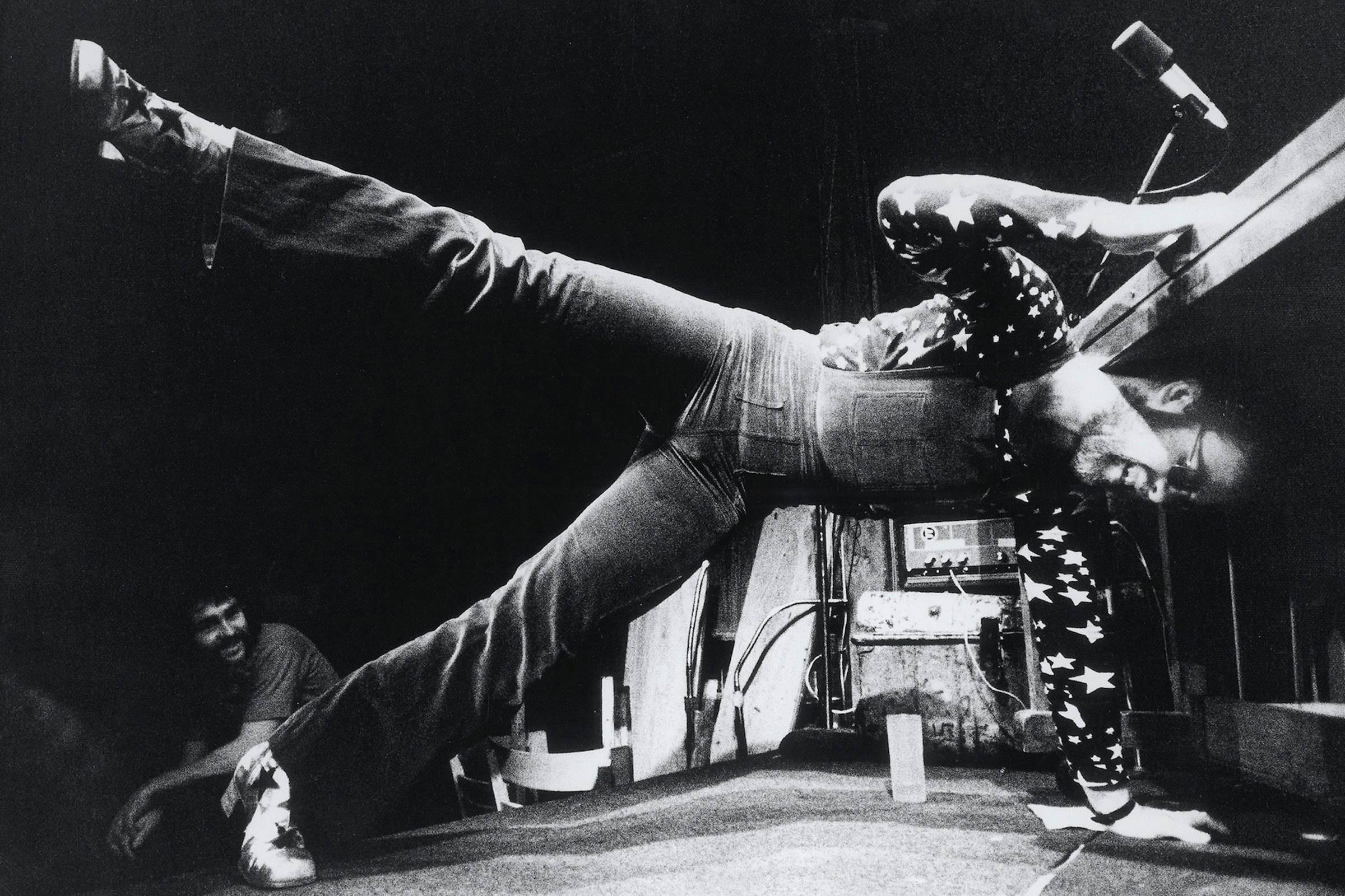 Elton John performing at The Troubadour, 1970