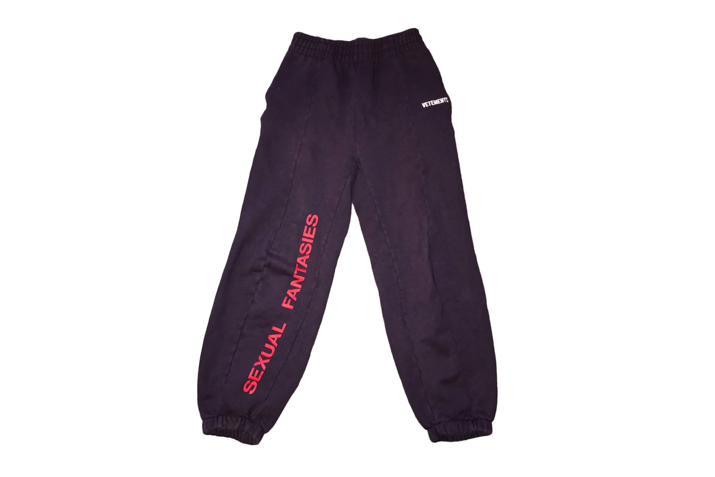 Vetements Fall/Winter 2017 Sexual Fantasies Sweatpants