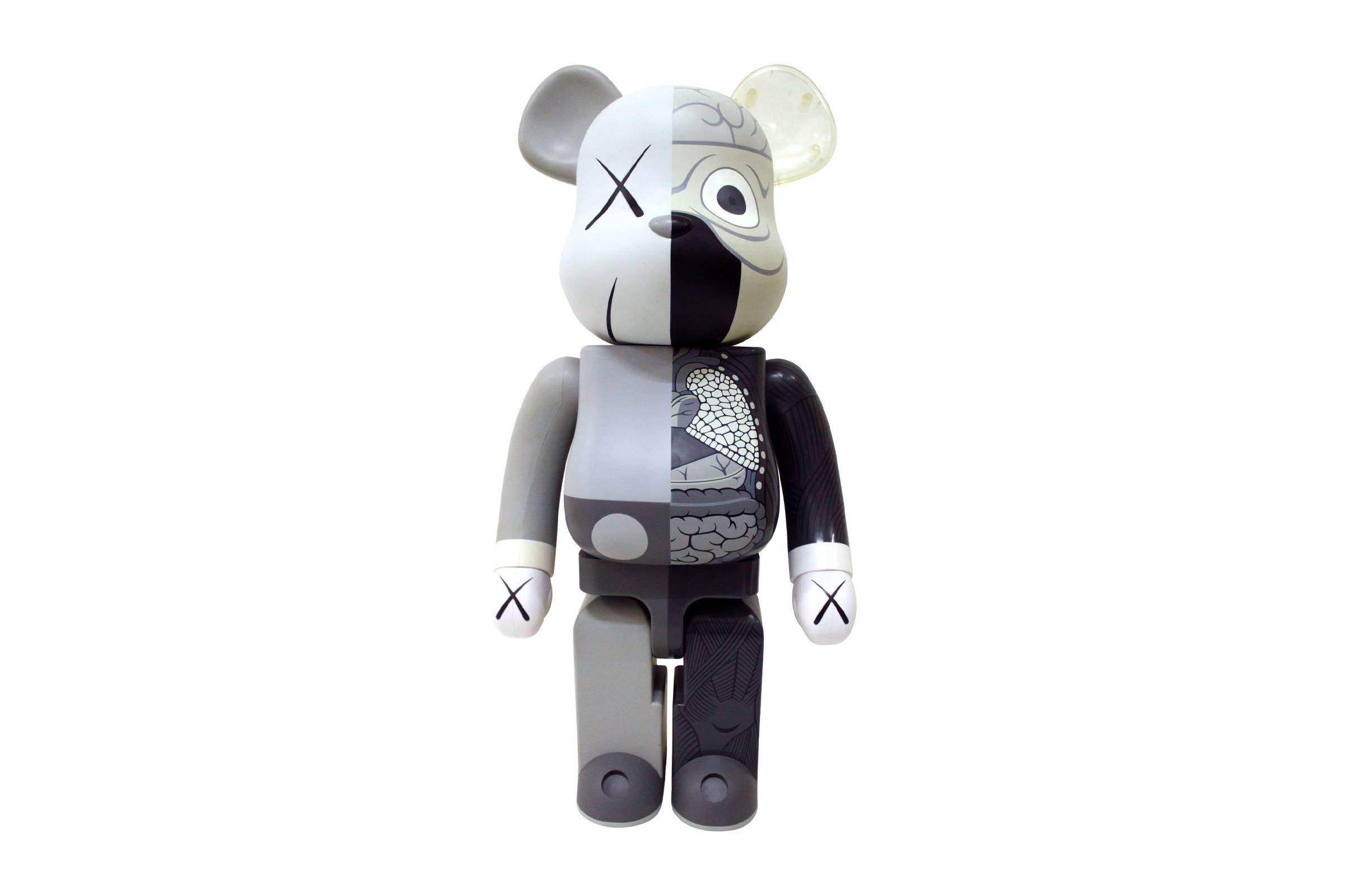 "OriginalFake x Medicom Toy 1000% Be@rbrick ""Dissected Grey"""