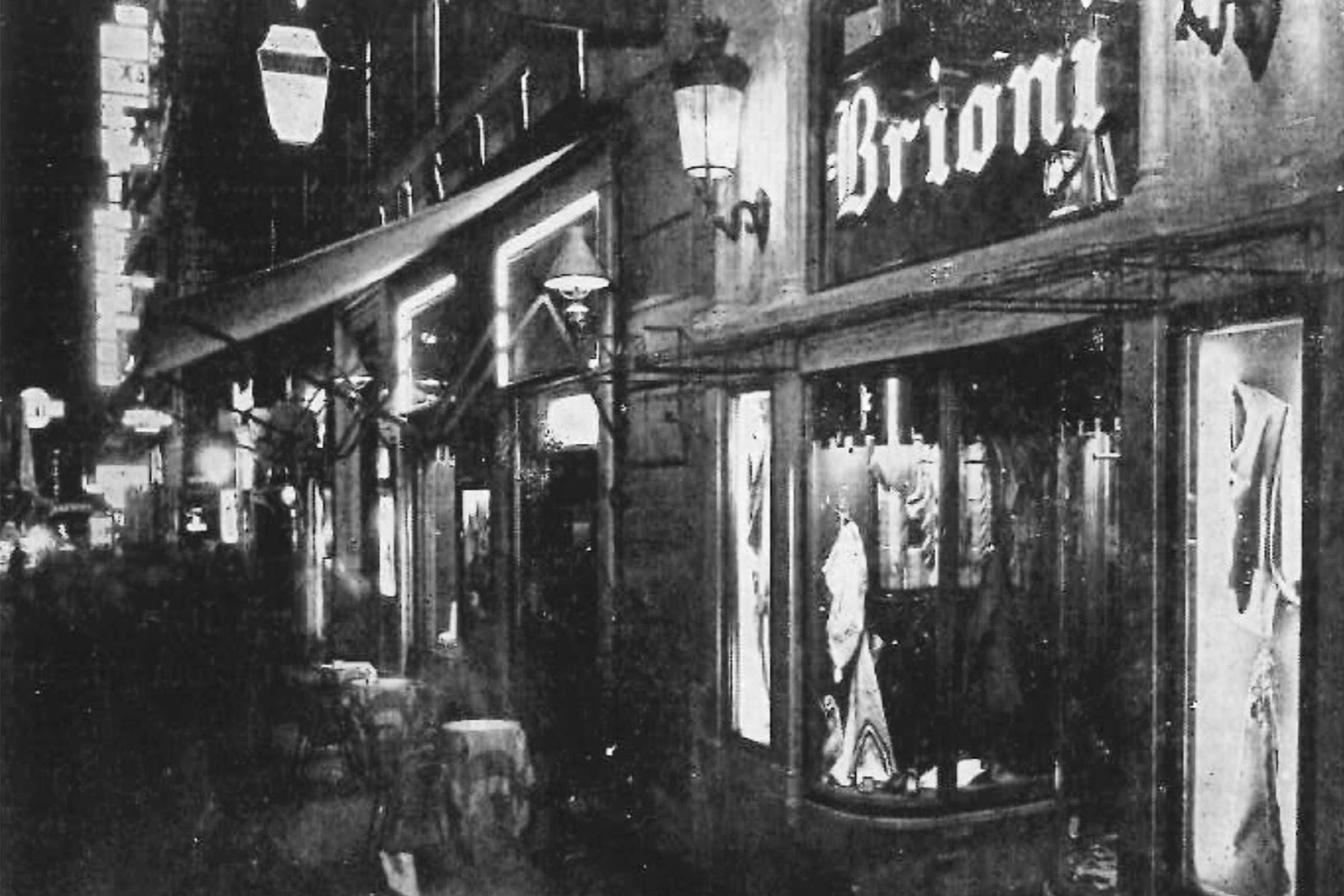 The original Brioni boutique, c. 1945
