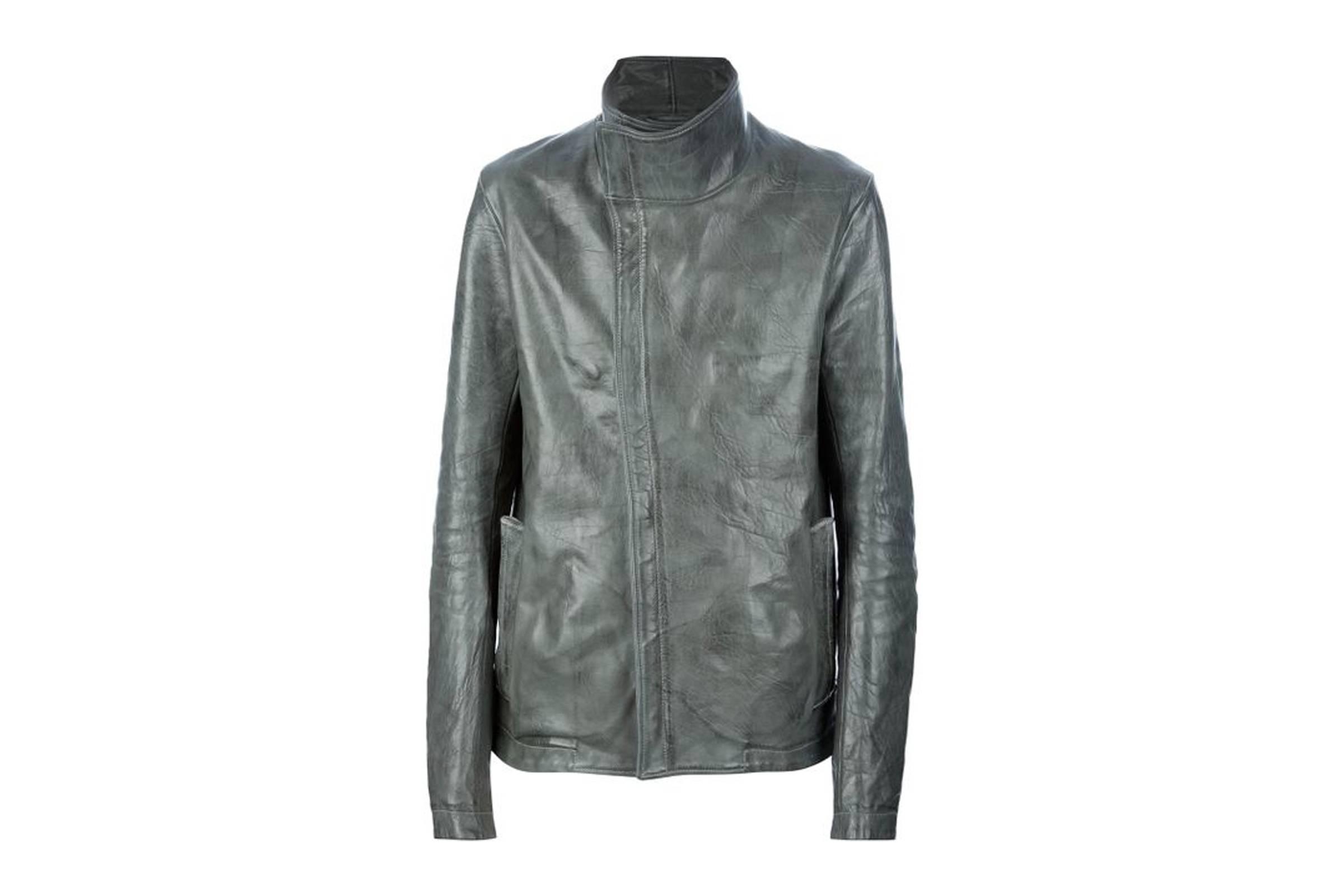 3. Carol Christian Poell High Neck Leather Jacket