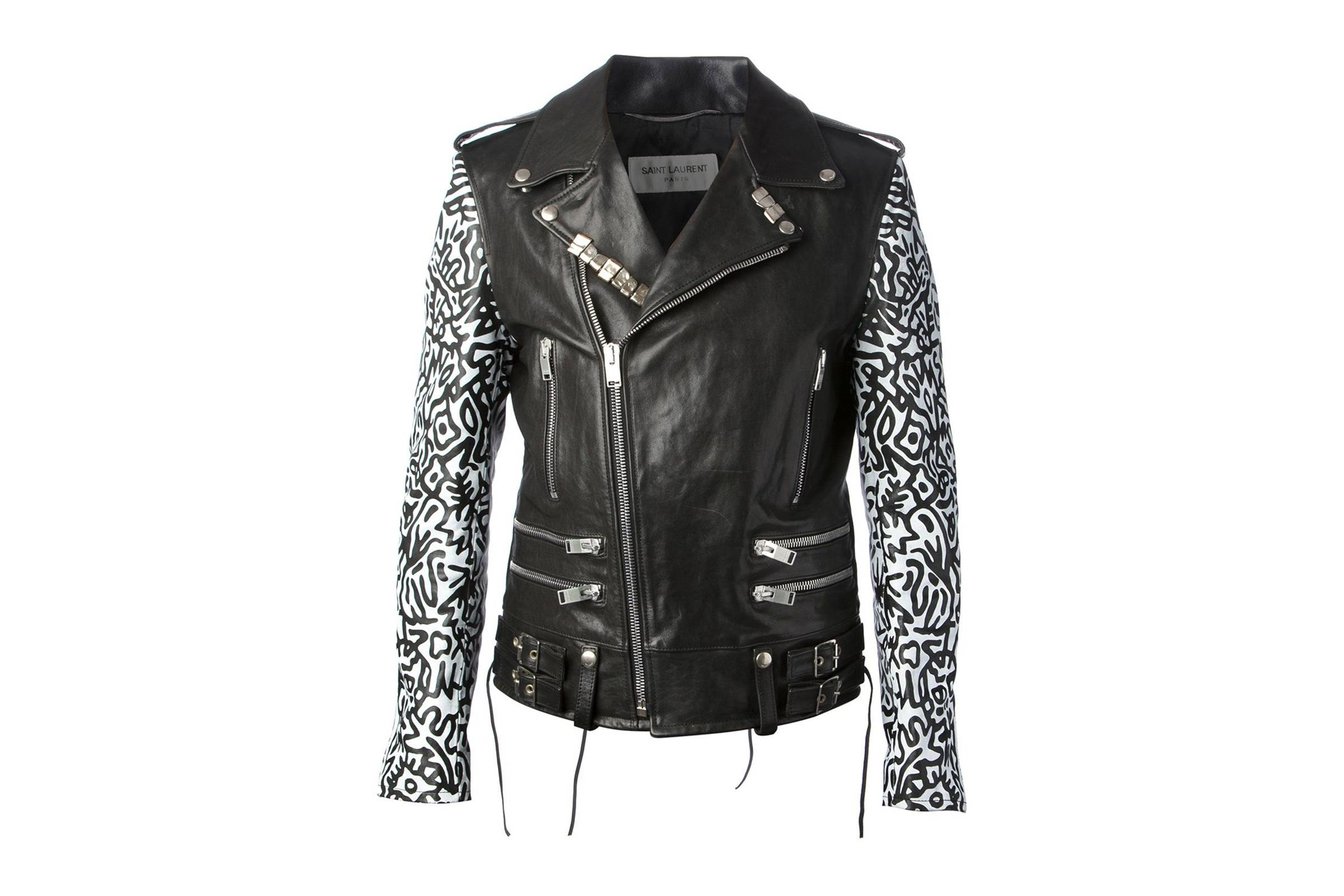 Saint Laurent Paris Fall/Winter 2013 Sumi Ink Club Leather Biker Jacket