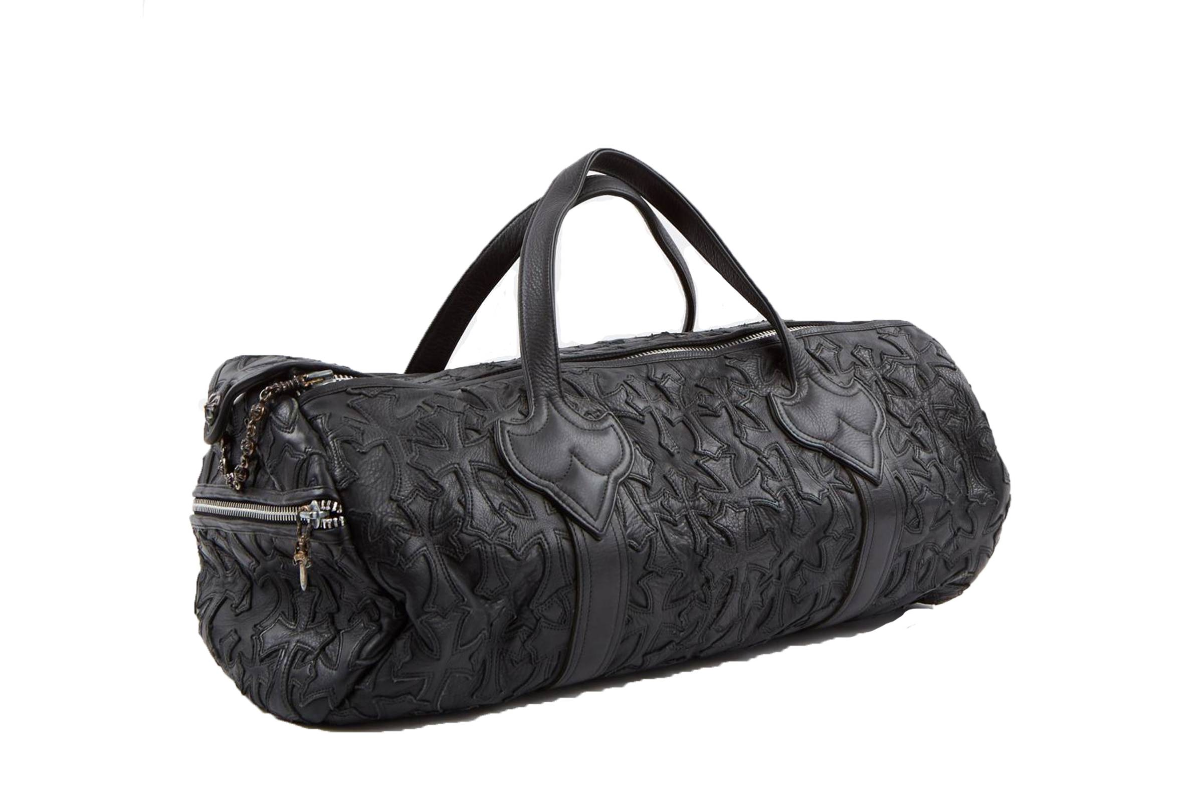 Chrome Hearts Leather Duffel Bag
