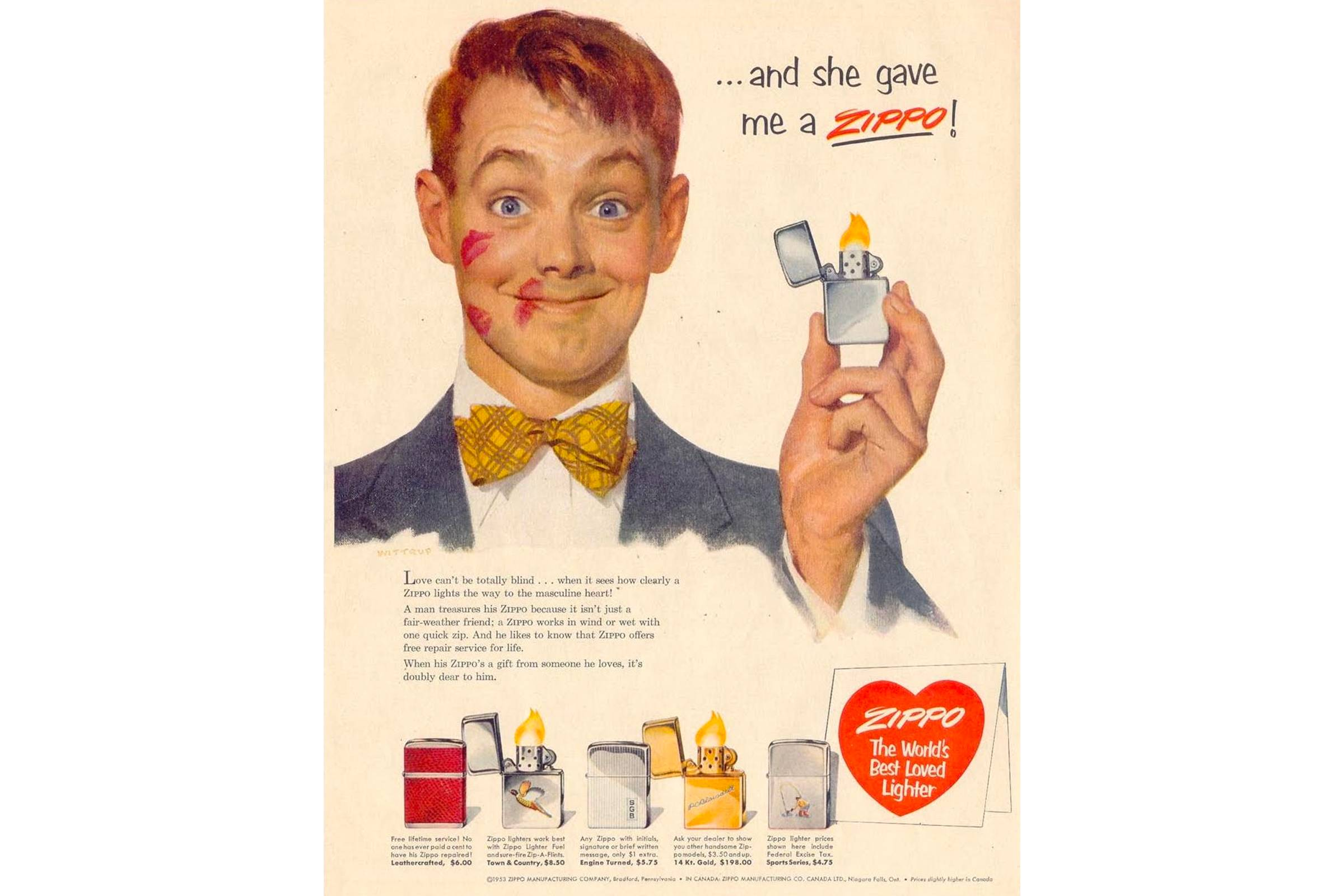 Zippo ad from 1953