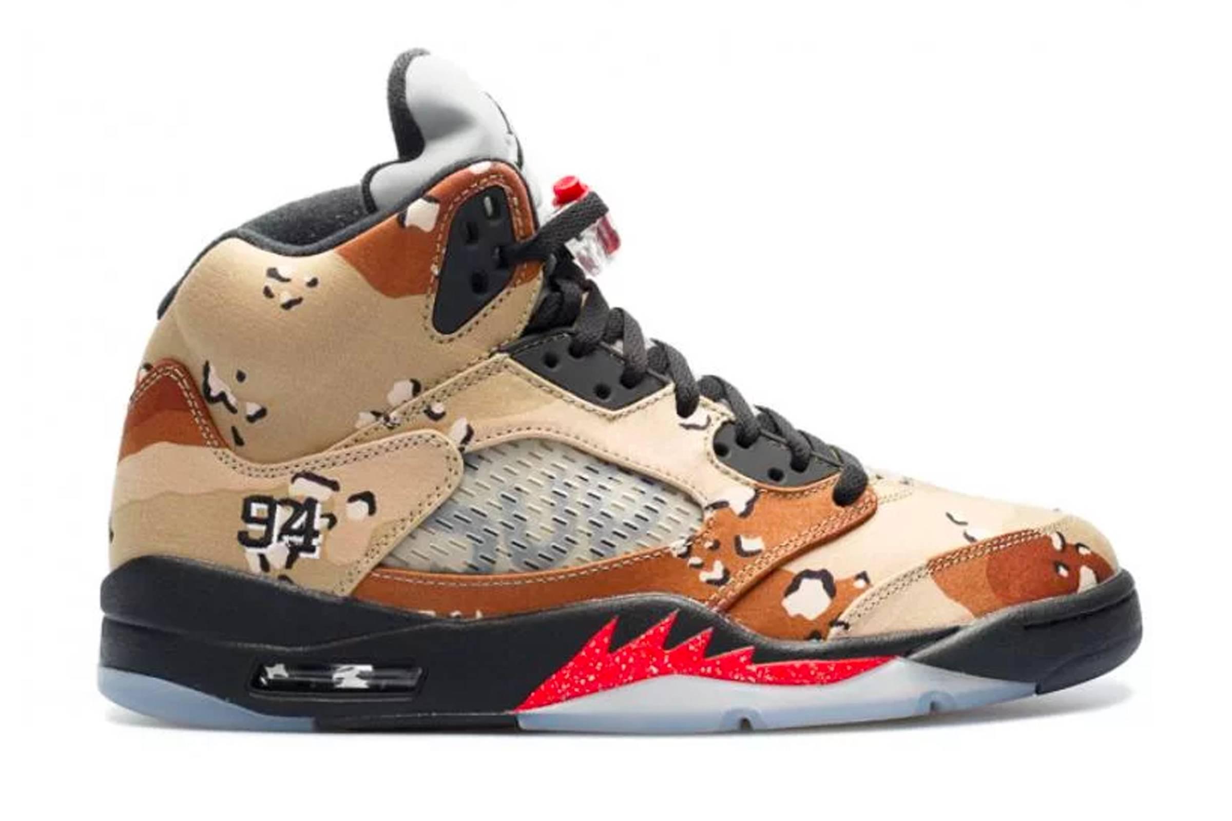 """Supreme x Jordan V """"Desert Camo"""""""