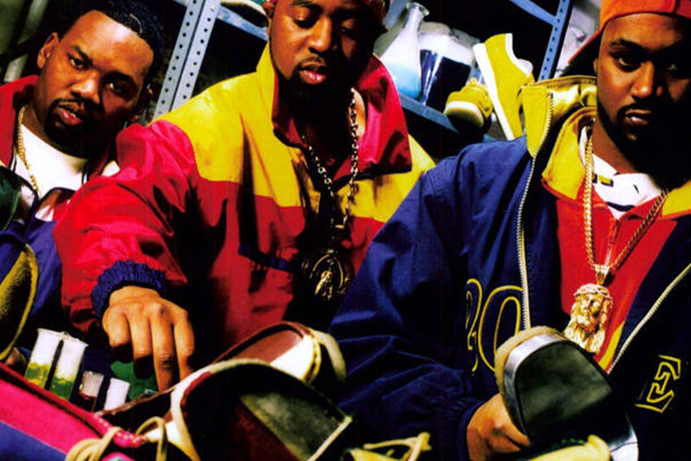 Members of the Wu-Tang in their custom mix-n-match Wallabees (c. 1990s)