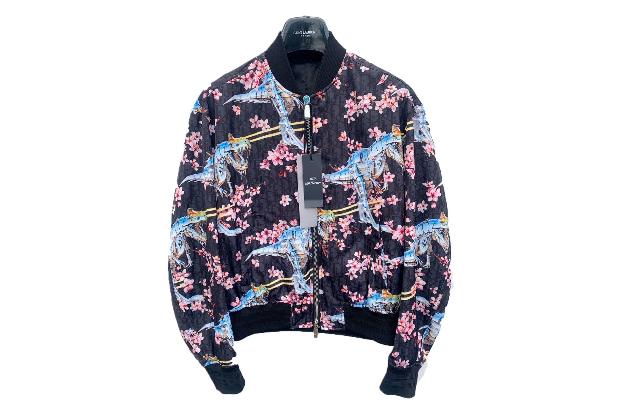 """Dior Men's x Hajime Sorayama """"Blossom & Dinosaur"""" Oblique Jacket"""