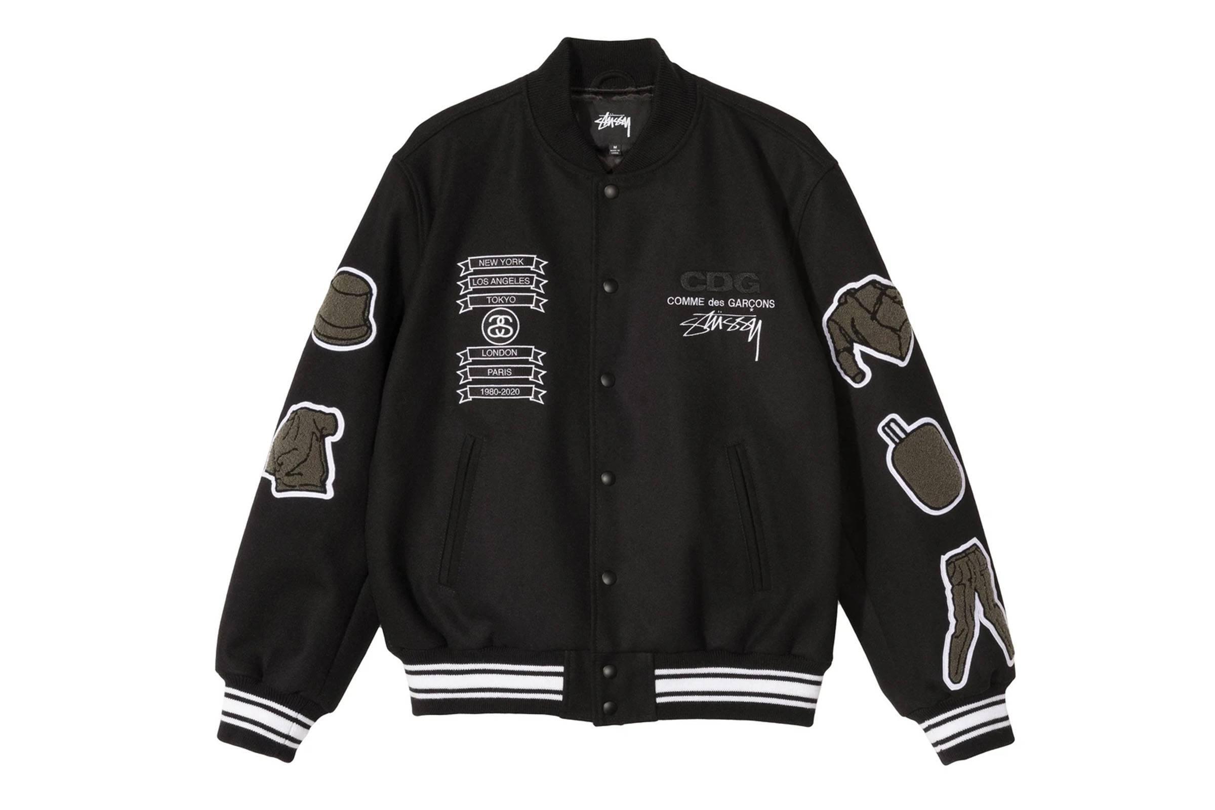 Comme des Garçons × Stussy: 40th Anniversary Varsity Jacket