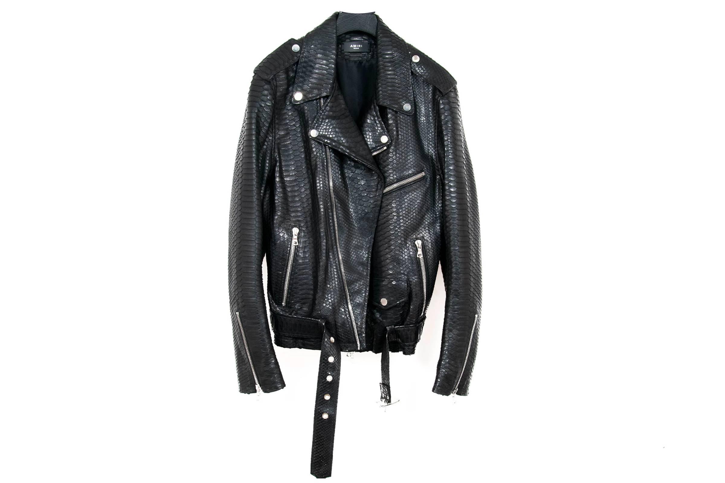 Amiri Python Biker Jacket